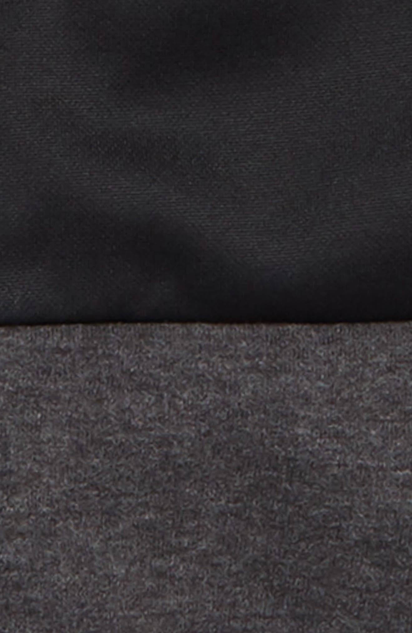 Colorblock Zip Front Hoodie,                             Alternate thumbnail 2, color,                             BLACK/ WOLF GREY