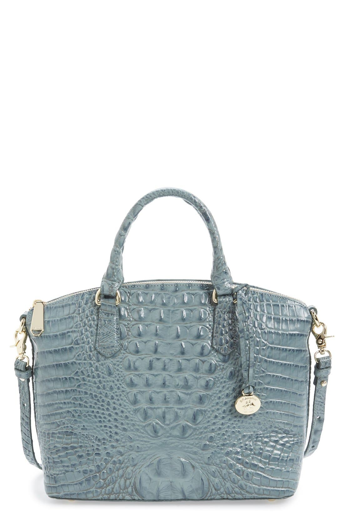 'Medium Duxbury' Croc Embossed Leather Satchel,                             Main thumbnail 15, color,