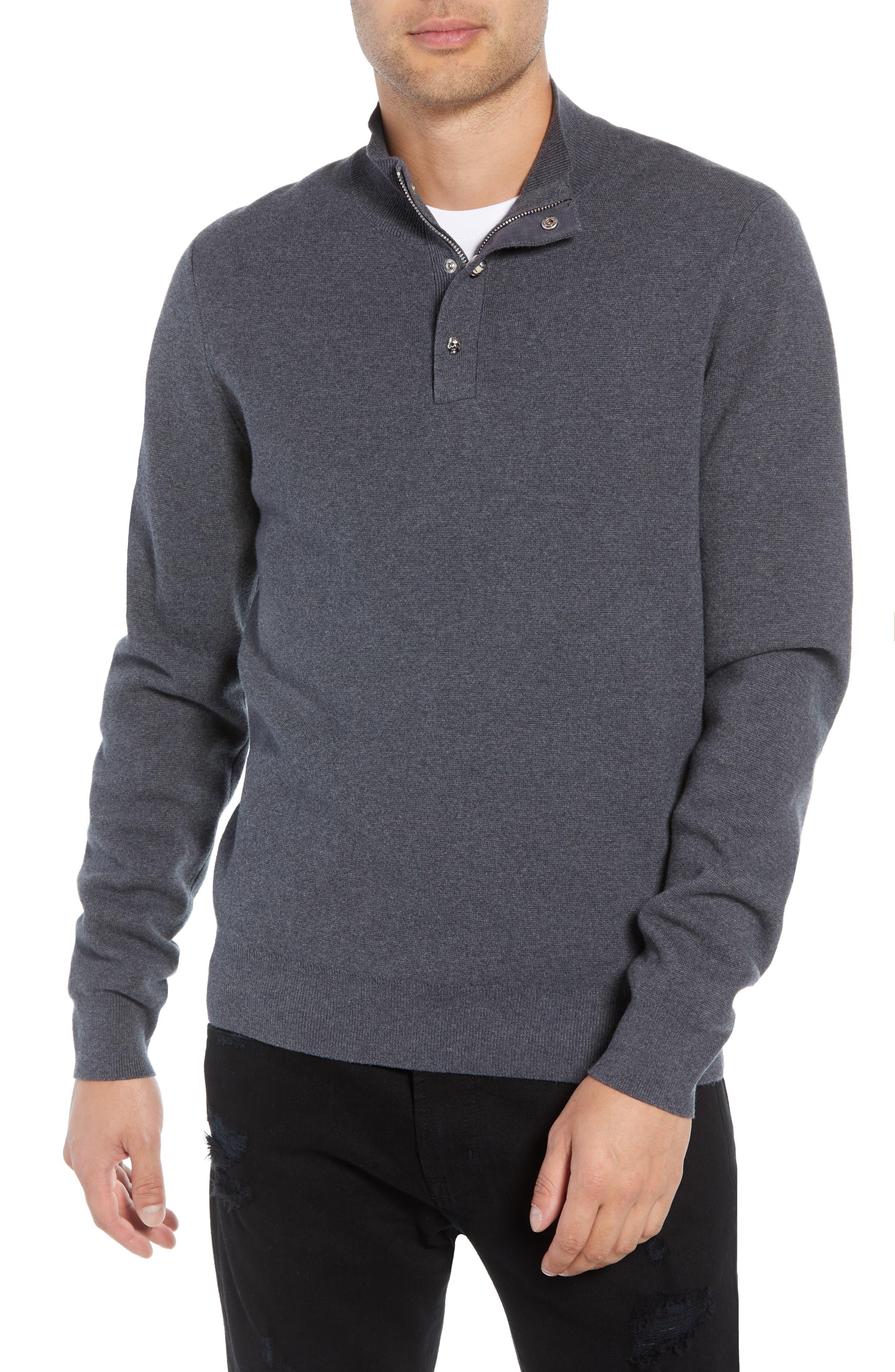 THE KOOPLES Classic Fit Skullhead Sweater in Grey