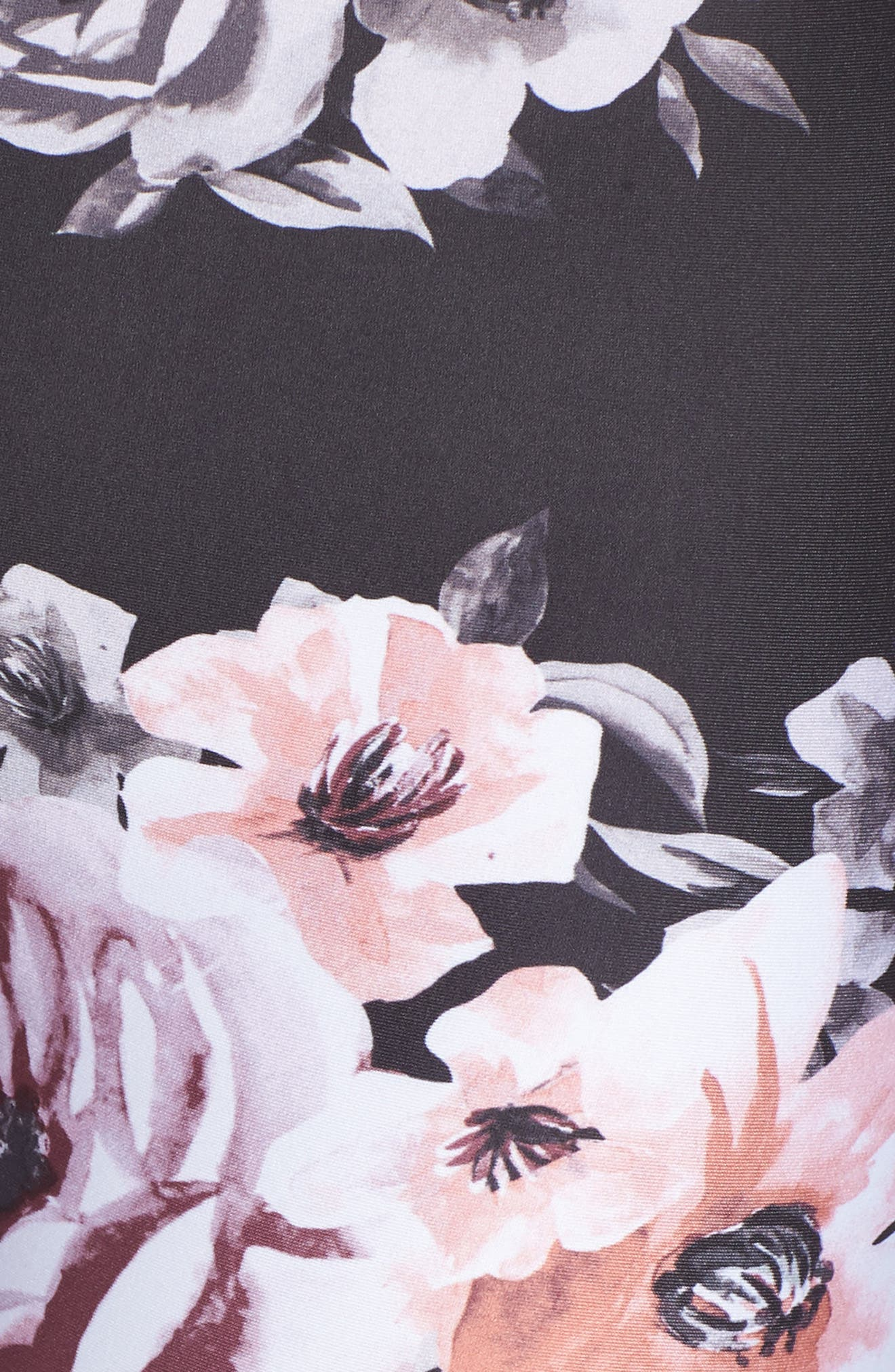 Vera Print Crop Leggings,                             Alternate thumbnail 6, color,                             BLACK CLASSIC FLORAL PRINT