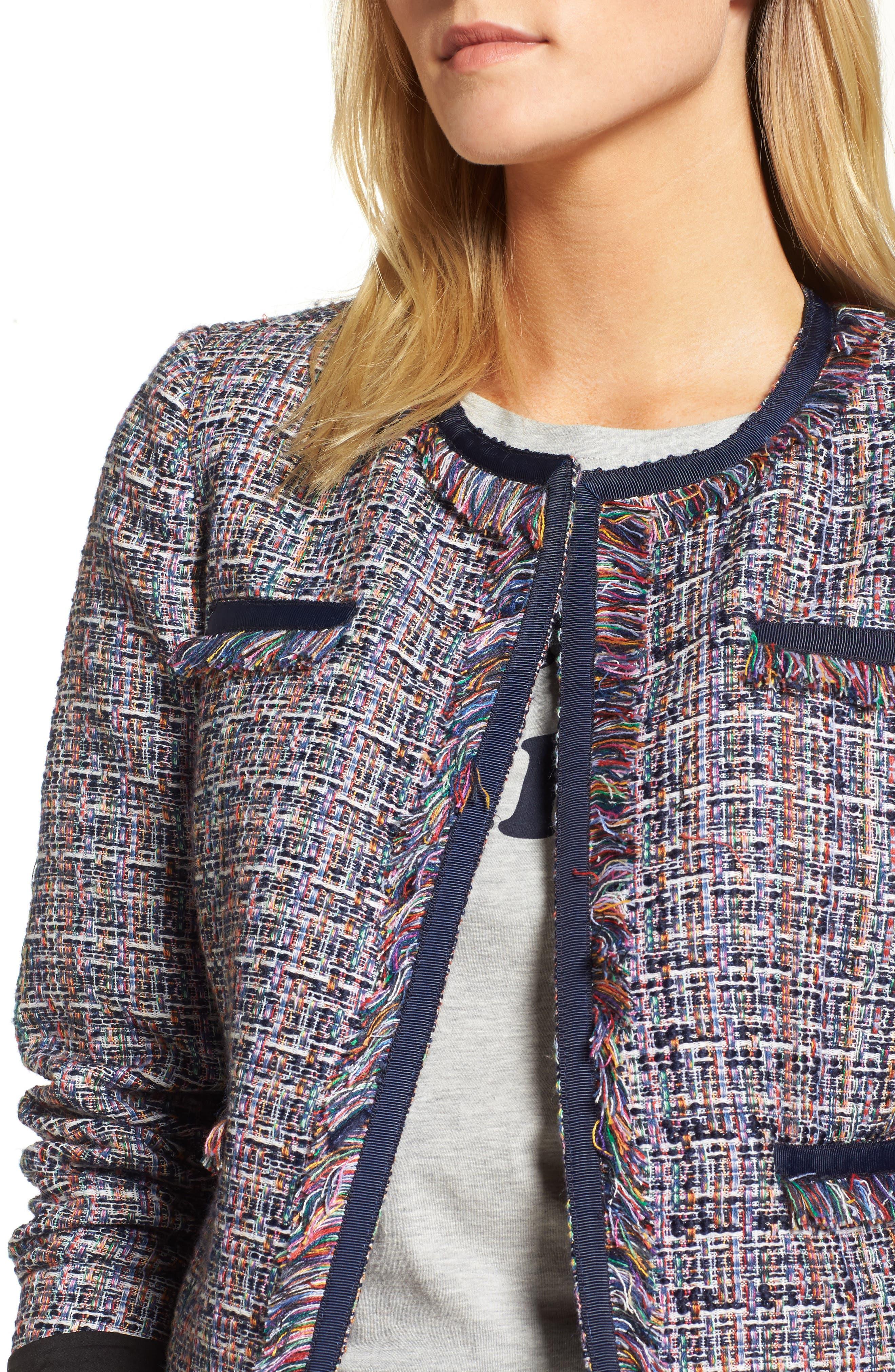 Tweed Jacket,                             Alternate thumbnail 4, color,