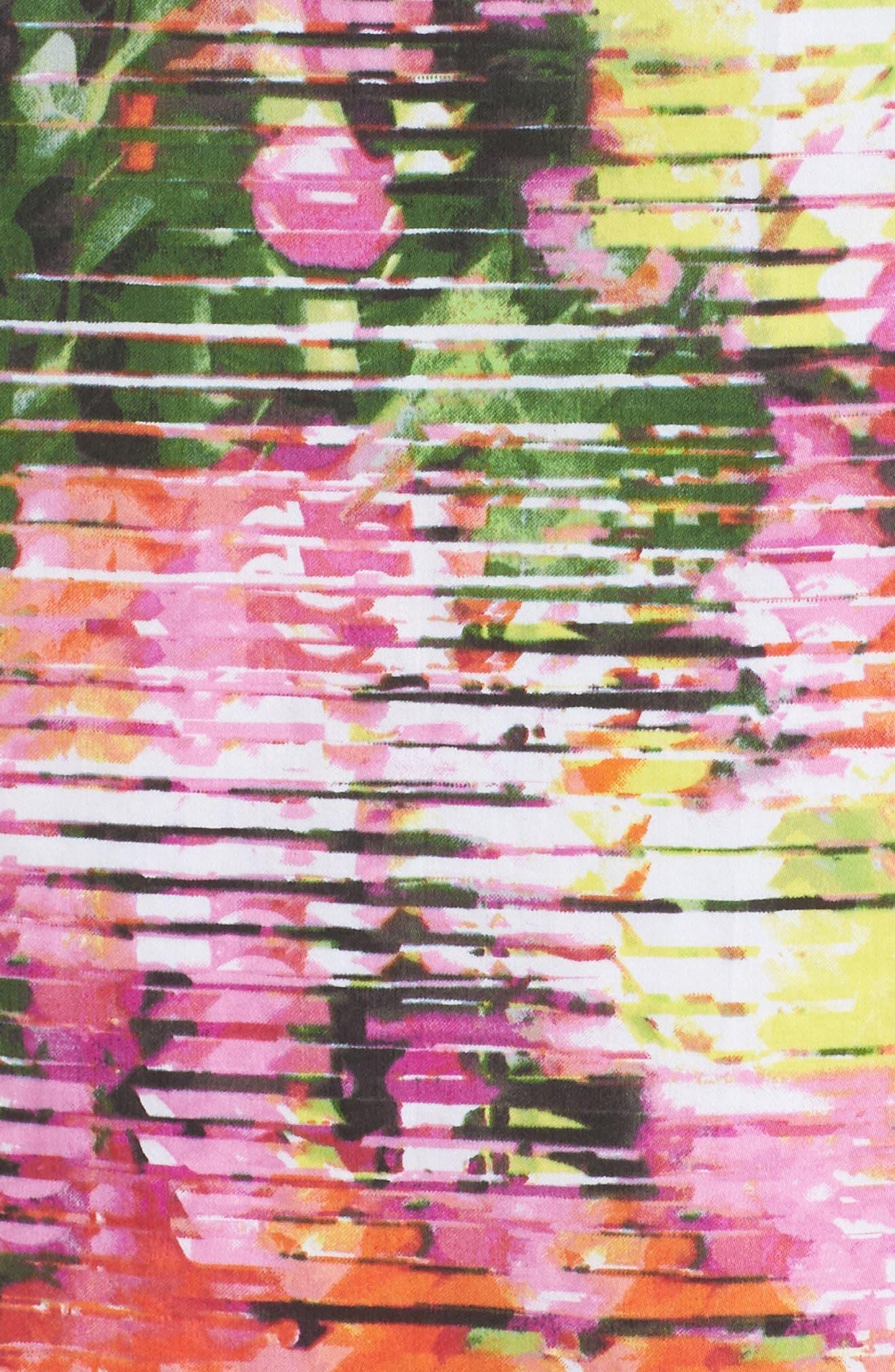Back Bow Halter Dress,                             Alternate thumbnail 5, color,                             SOFT WHITE/ PINKS