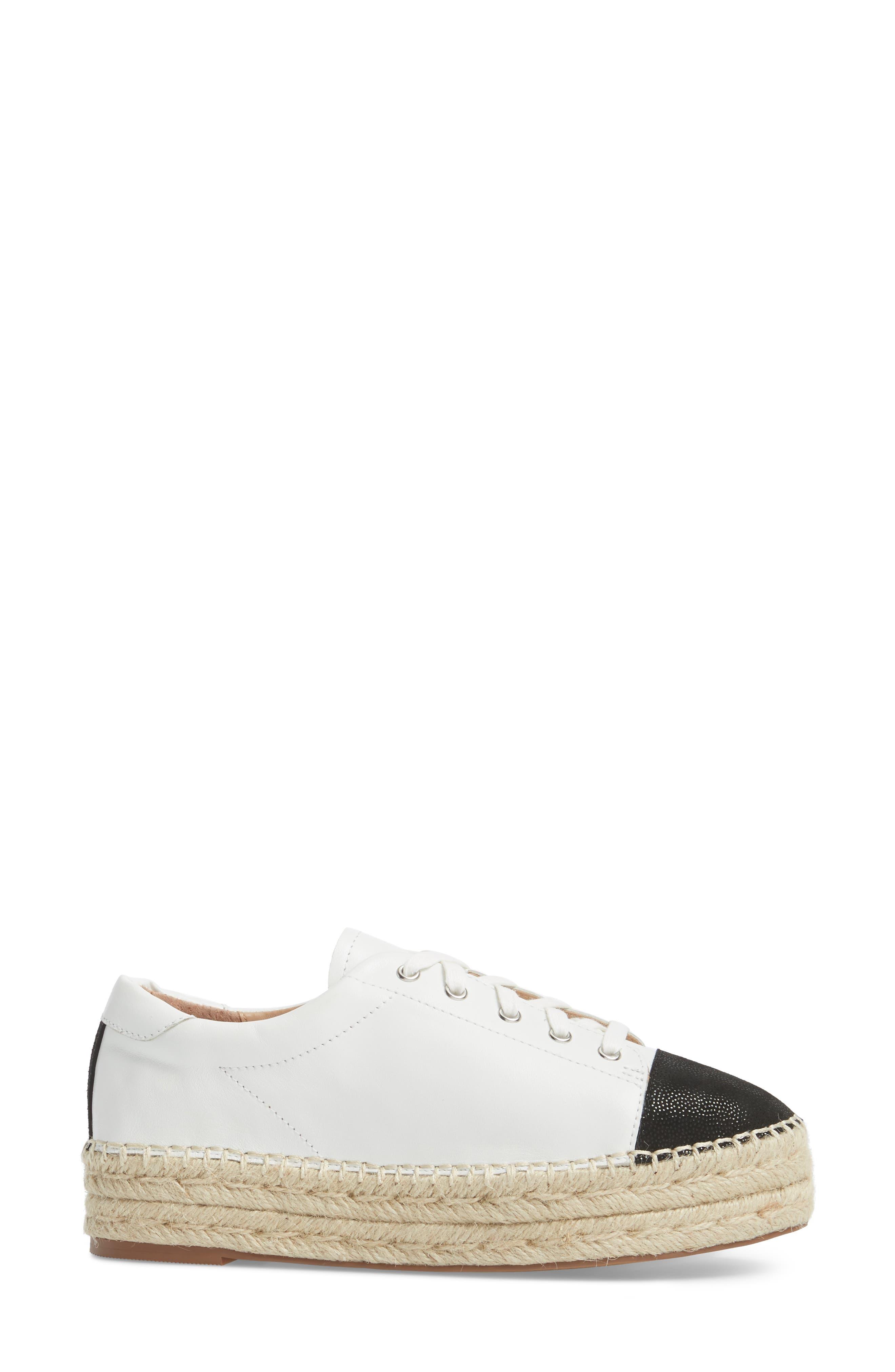 Sierra Espadrille Platform Sneaker,                             Alternate thumbnail 3, color,                             108