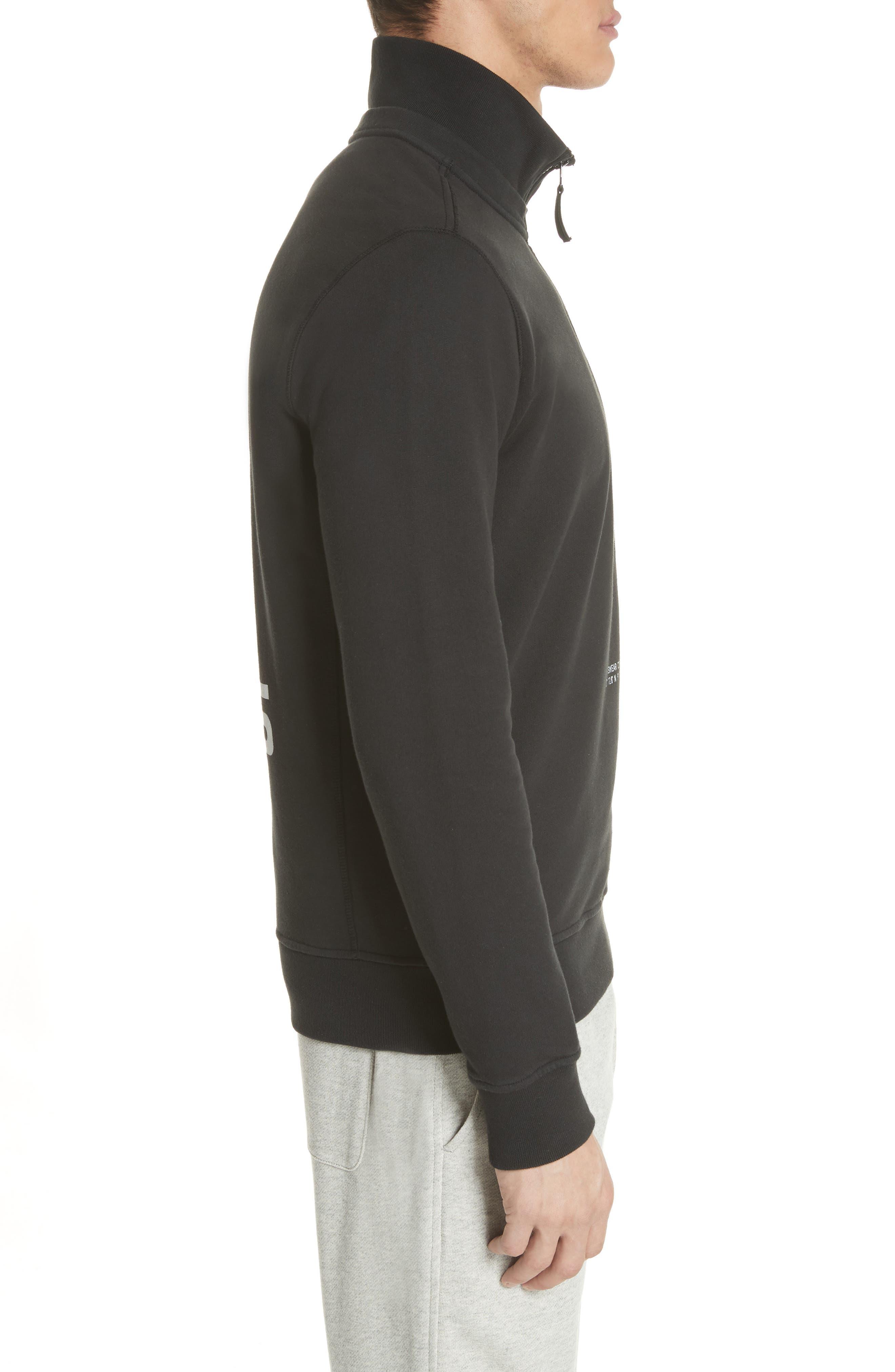 Half Zip Sweatshirt,                             Alternate thumbnail 3, color,                             001