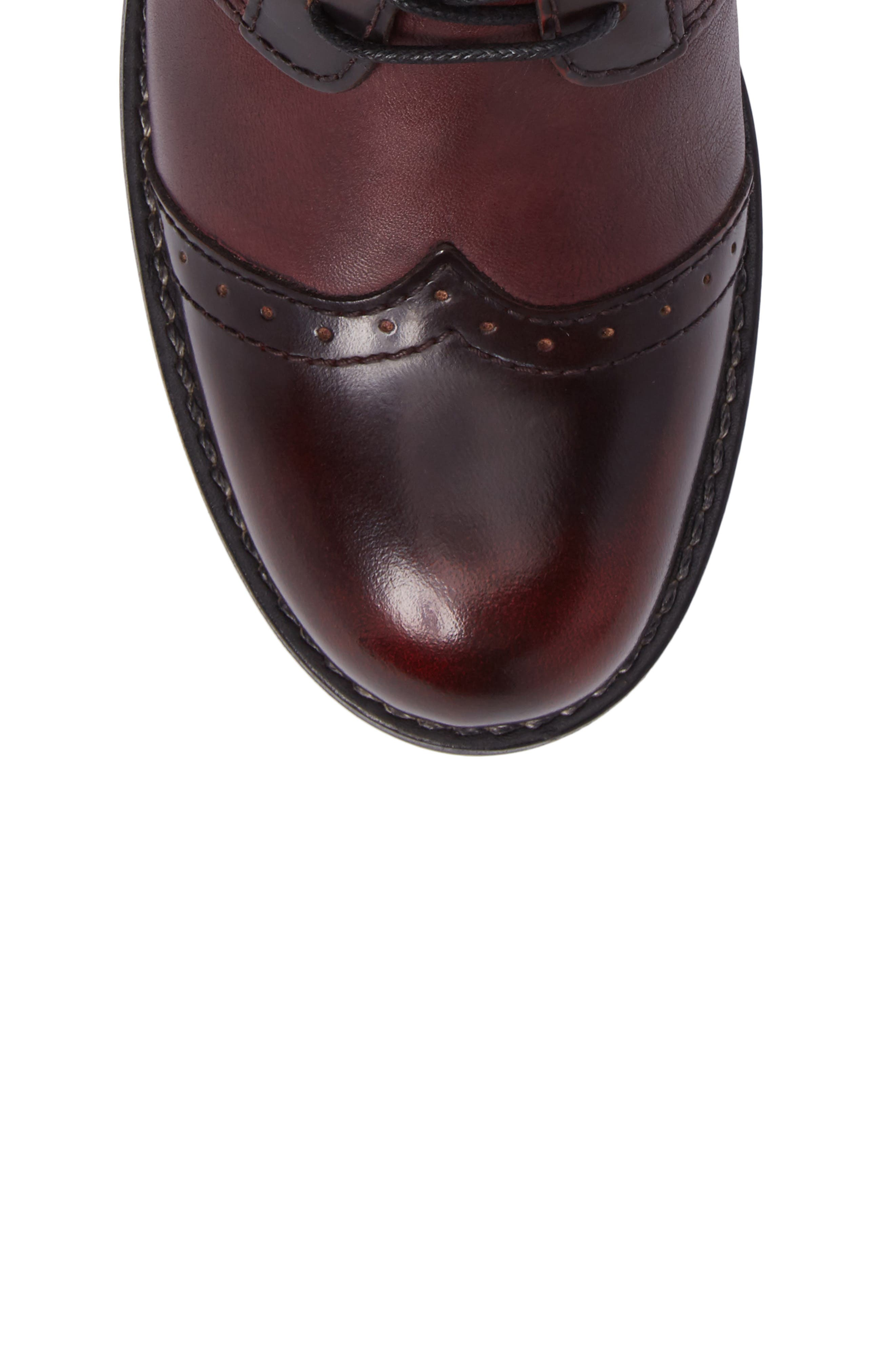 Millstream Boot,                             Alternate thumbnail 5, color,                             BORDO LEATHER