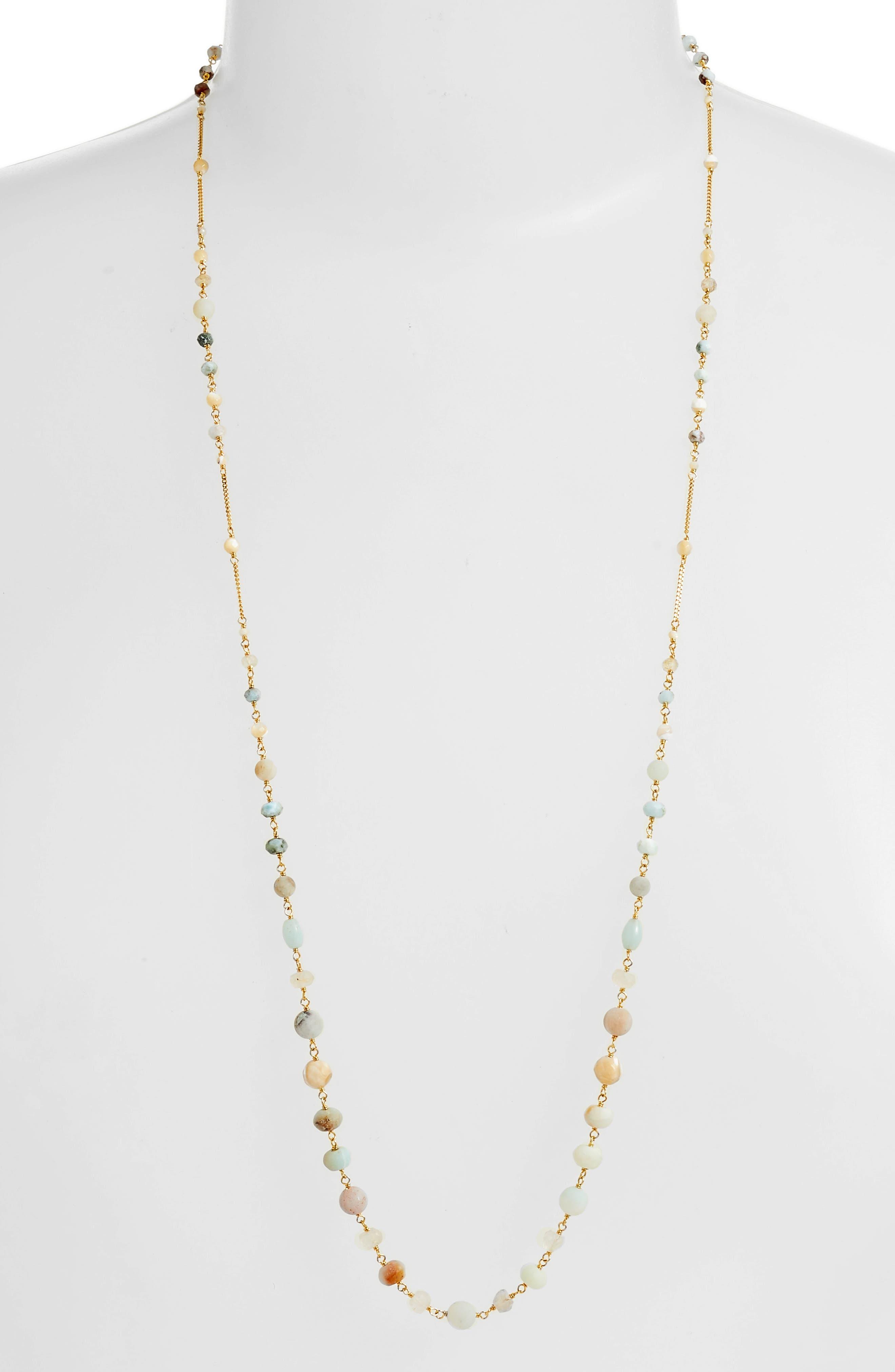 Mixed Bead Station Necklace,                             Main thumbnail 1, color,                             211