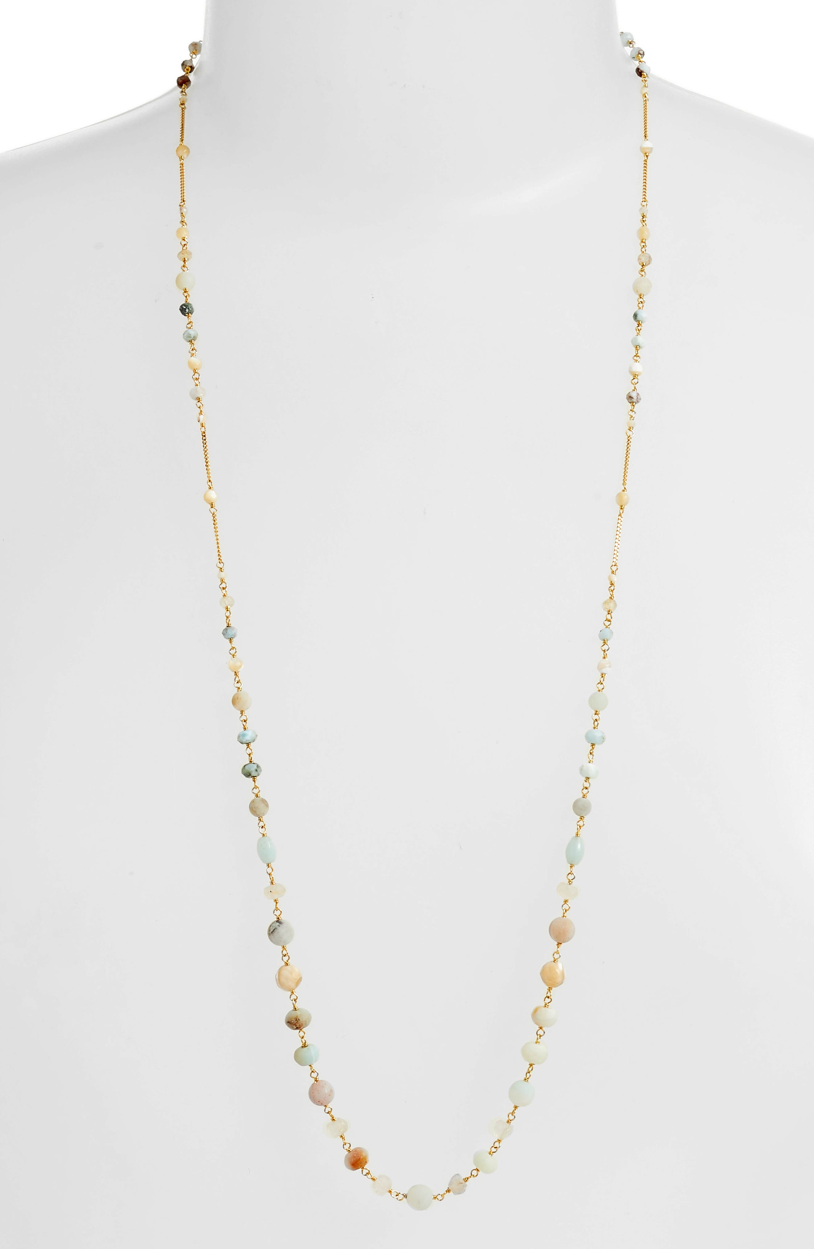 Mixed Bead Station Necklace,                         Main,                         color, 211