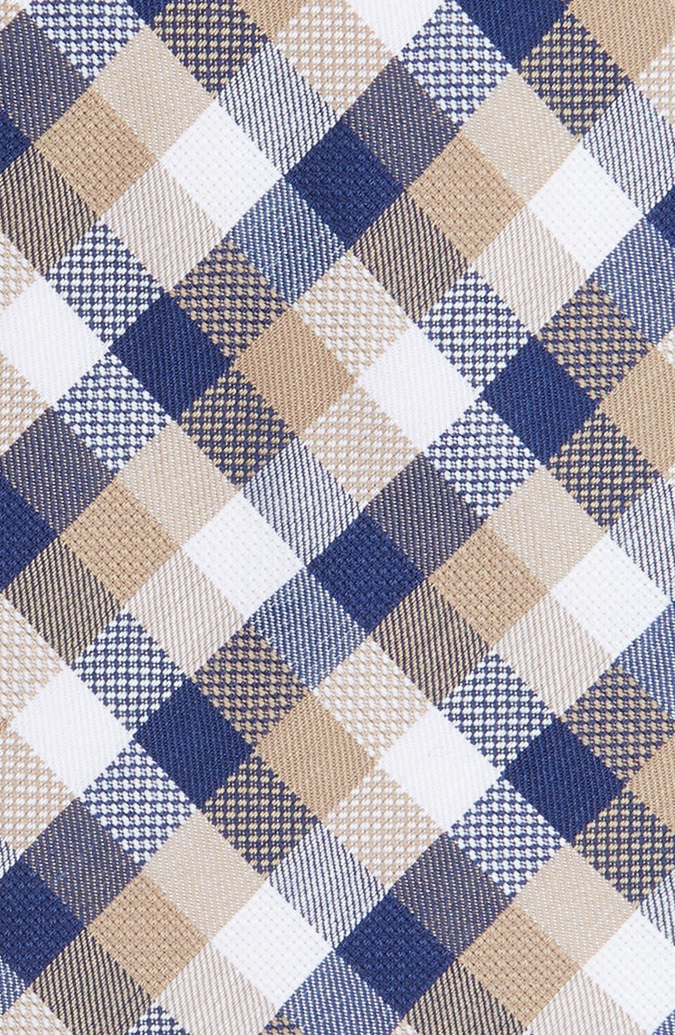 Scott Check Cotton Skinny Tie,                             Alternate thumbnail 6, color,