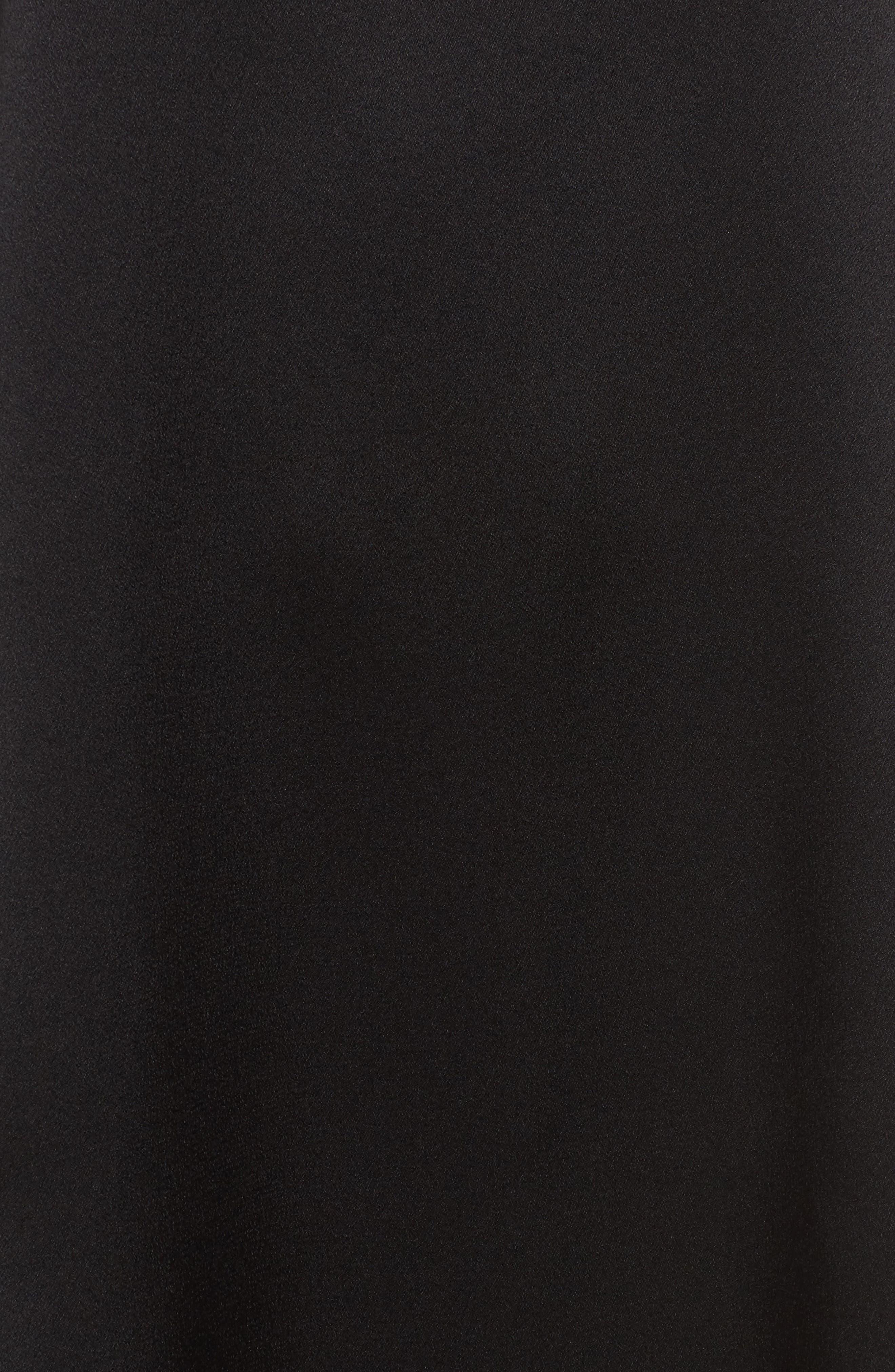 Silk Shift Dress,                             Alternate thumbnail 5, color,                             001