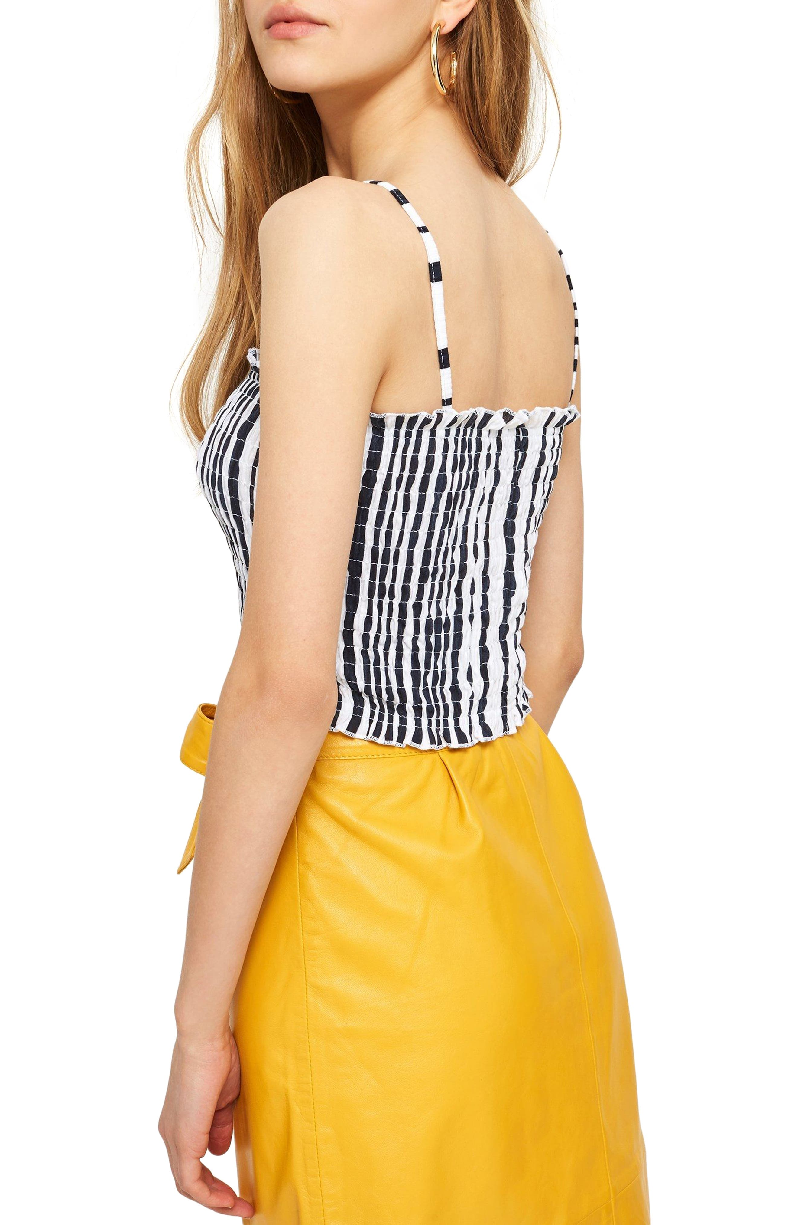 Smocked Button Top,                             Alternate thumbnail 3, color,
