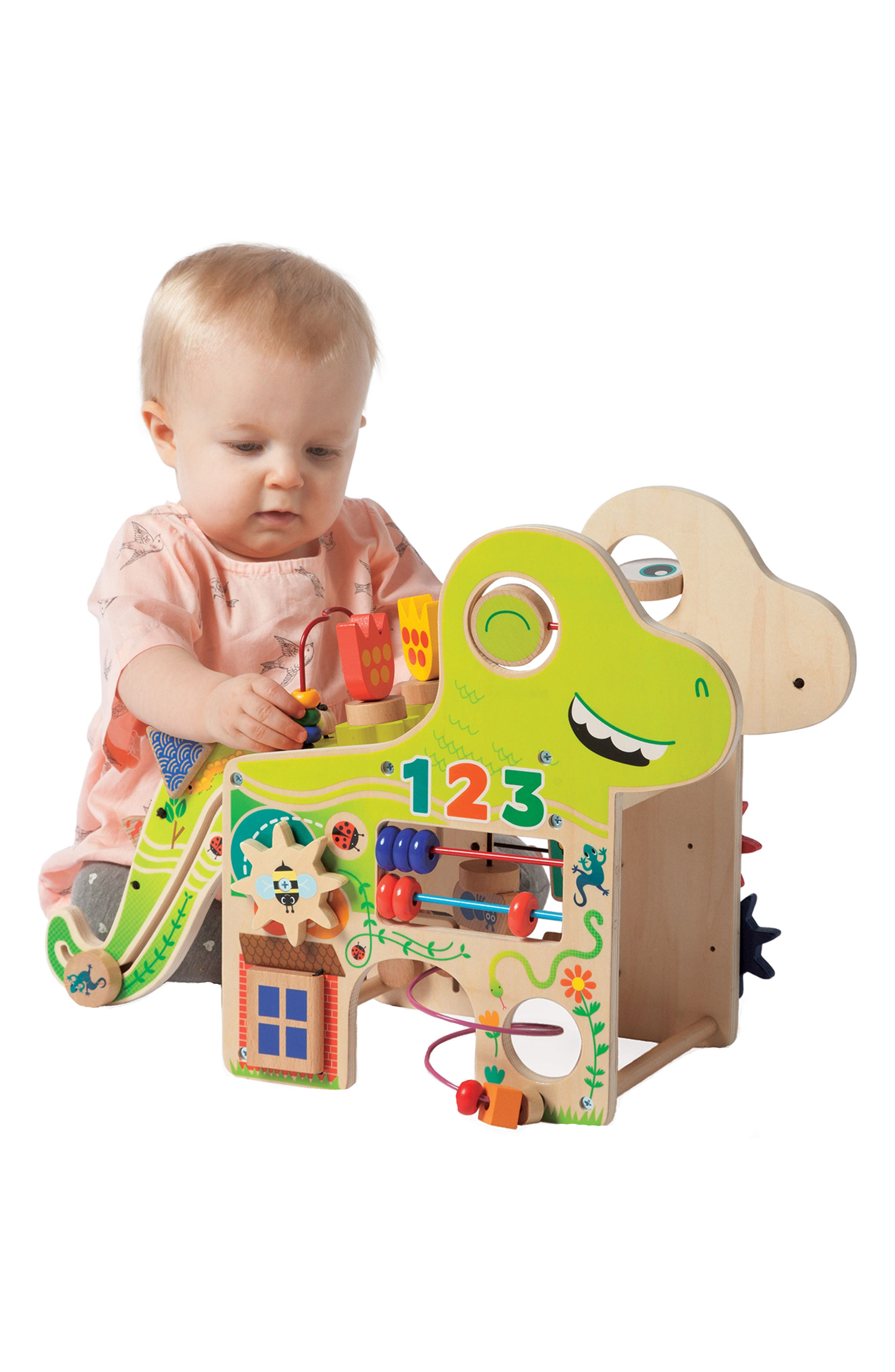 Wooden Playful Dino Activity Center,                             Alternate thumbnail 6, color,                             300
