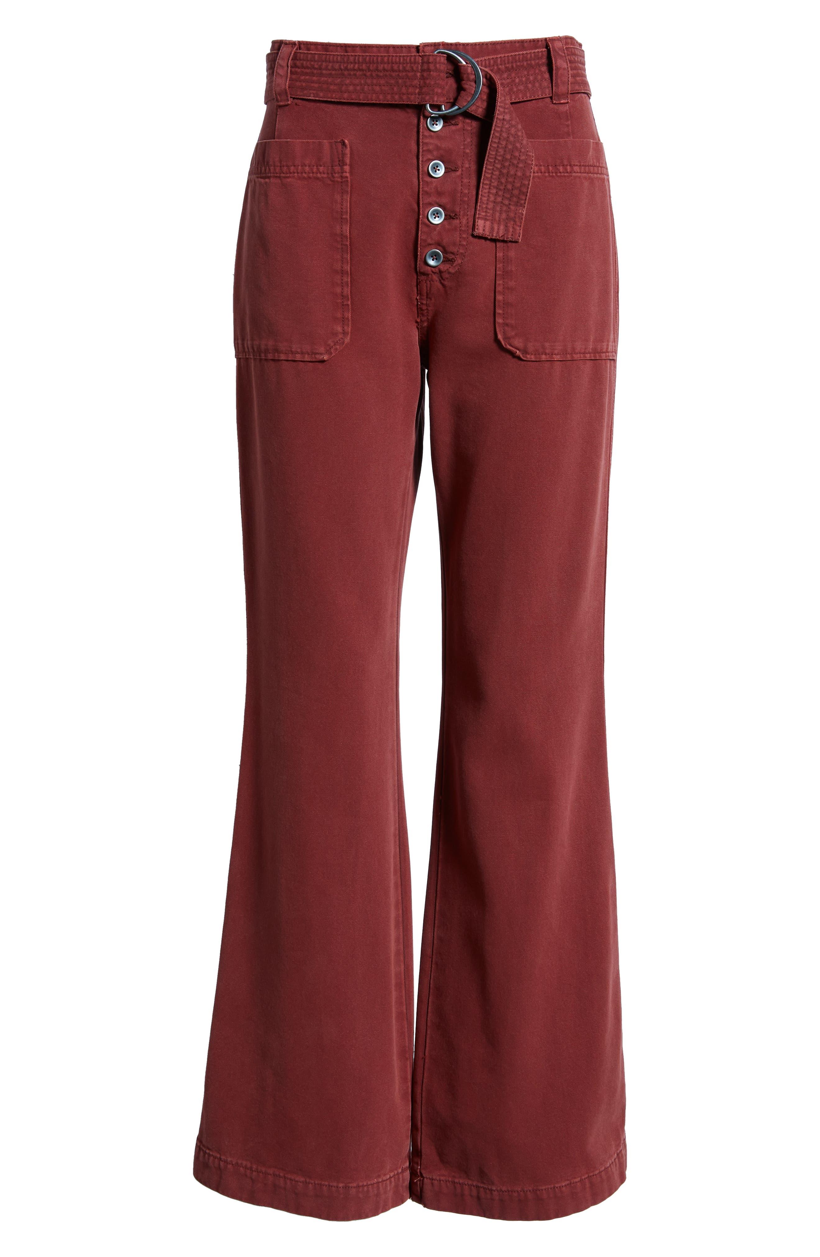 Corin Mod Slim Flare Pants,                             Alternate thumbnail 7, color,                             WINE