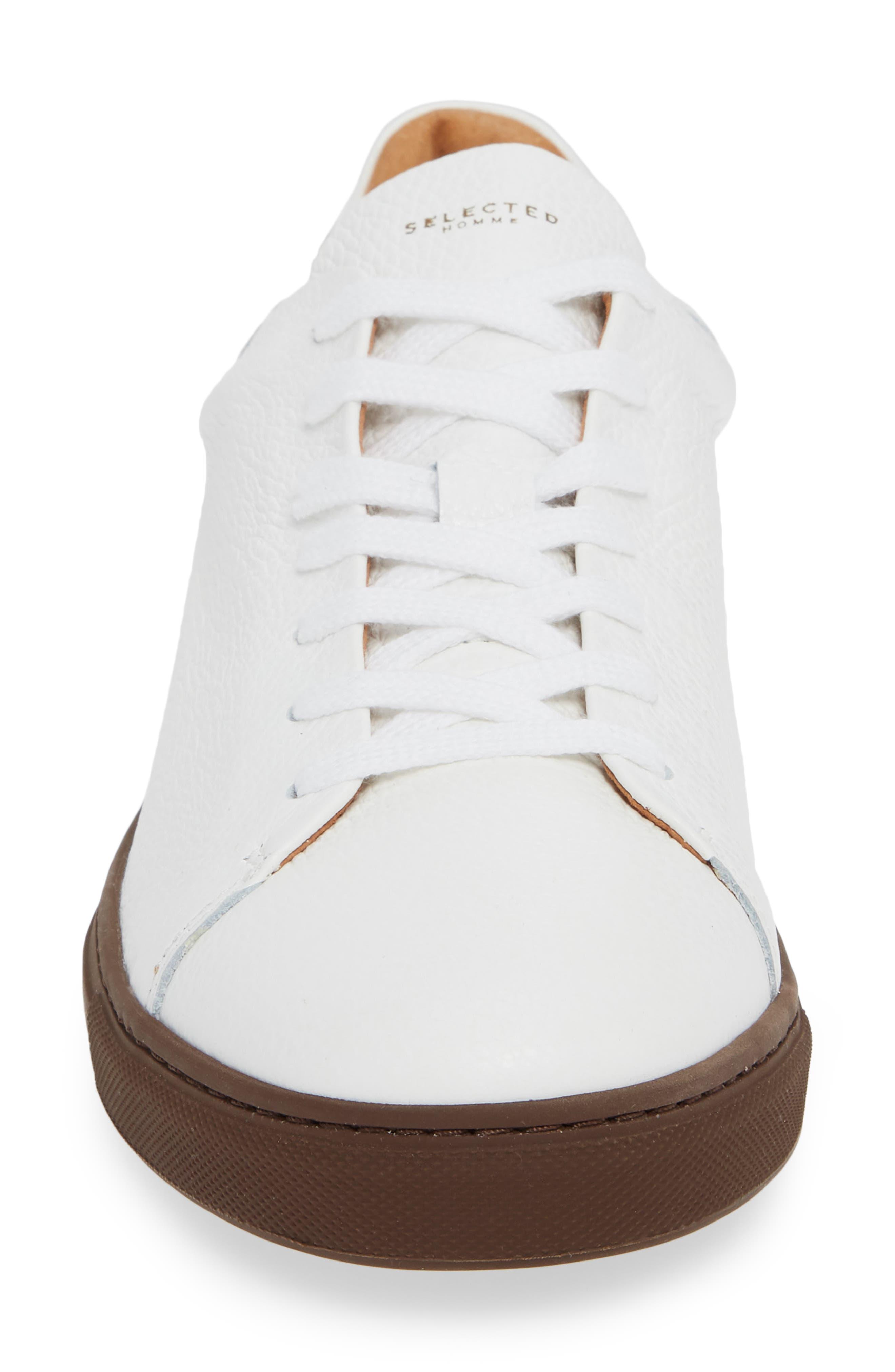 David Sneaker,                             Alternate thumbnail 4, color,                             WHITE/ BURGUNDY SOLE