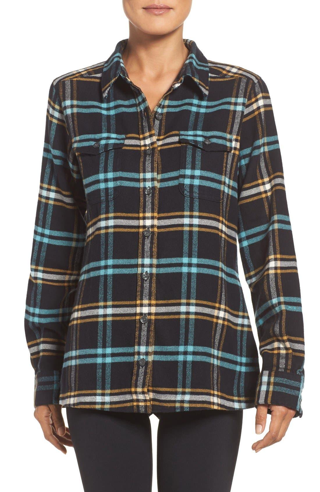 'Fjord' Flannel Shirt,                             Main thumbnail 1, color,                             002