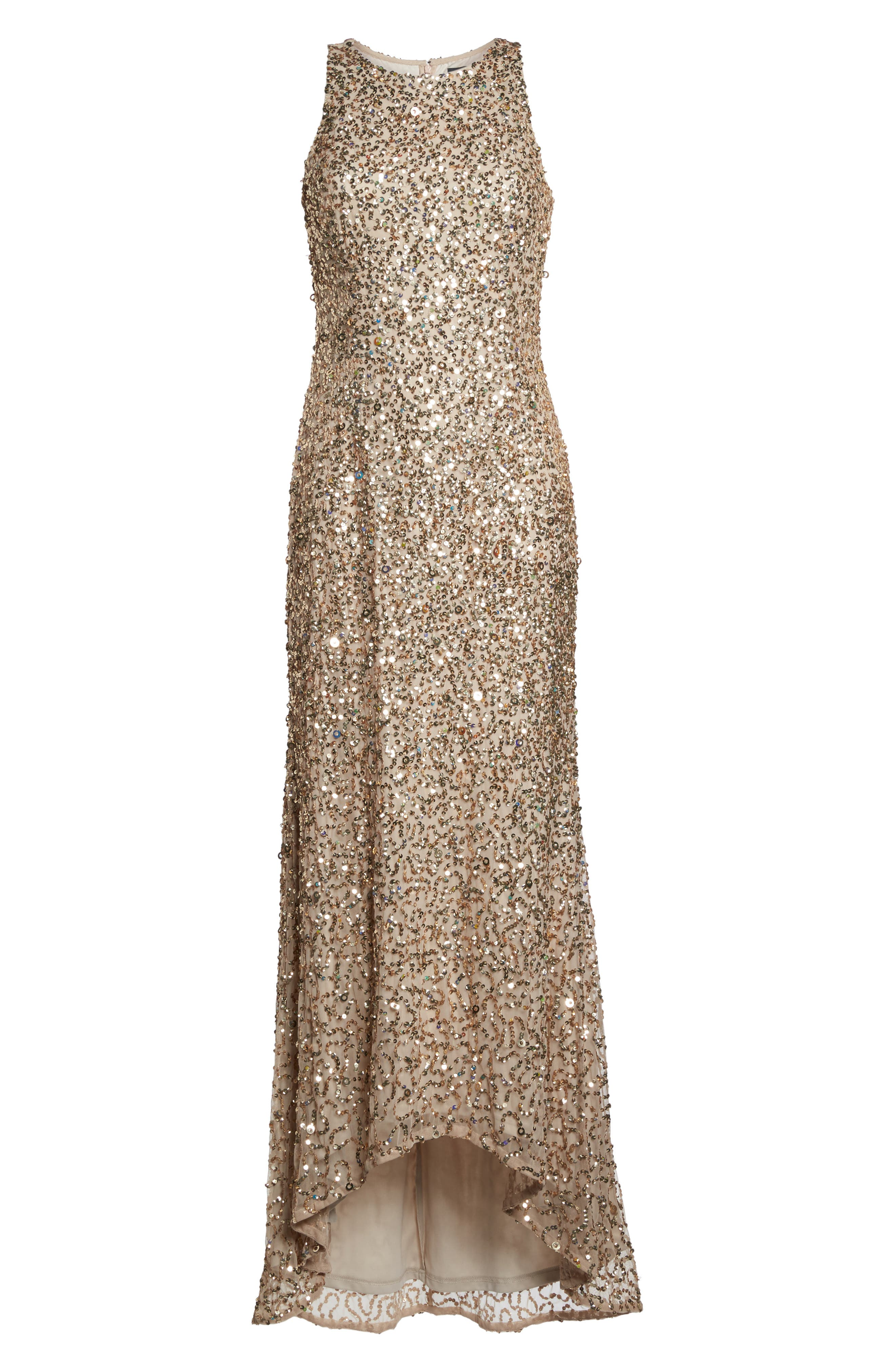 Sequin High/Low Gown,                             Alternate thumbnail 27, color,