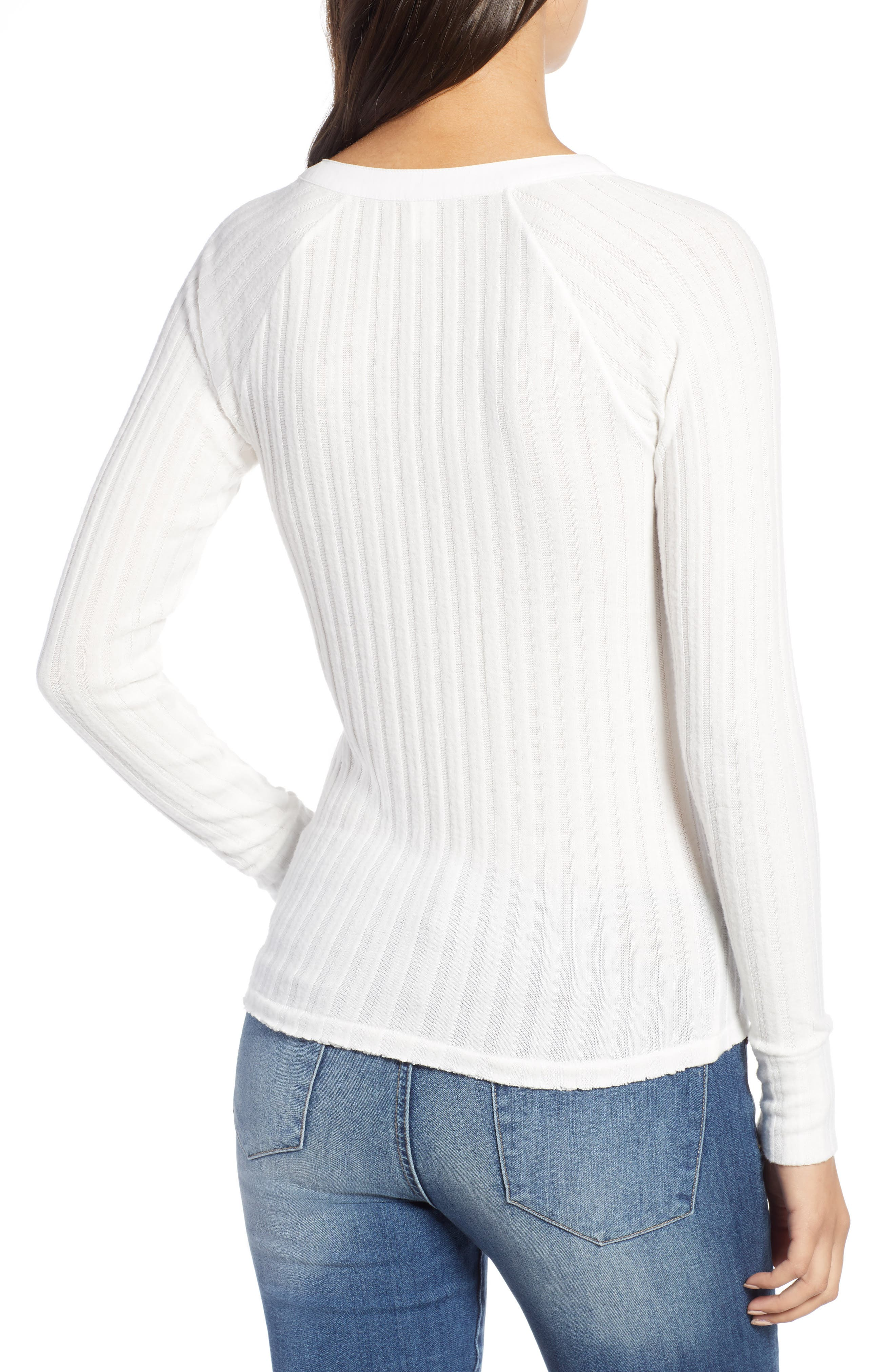 BP.,                             Fitted Henley,                             Alternate thumbnail 2, color,                             IVORY