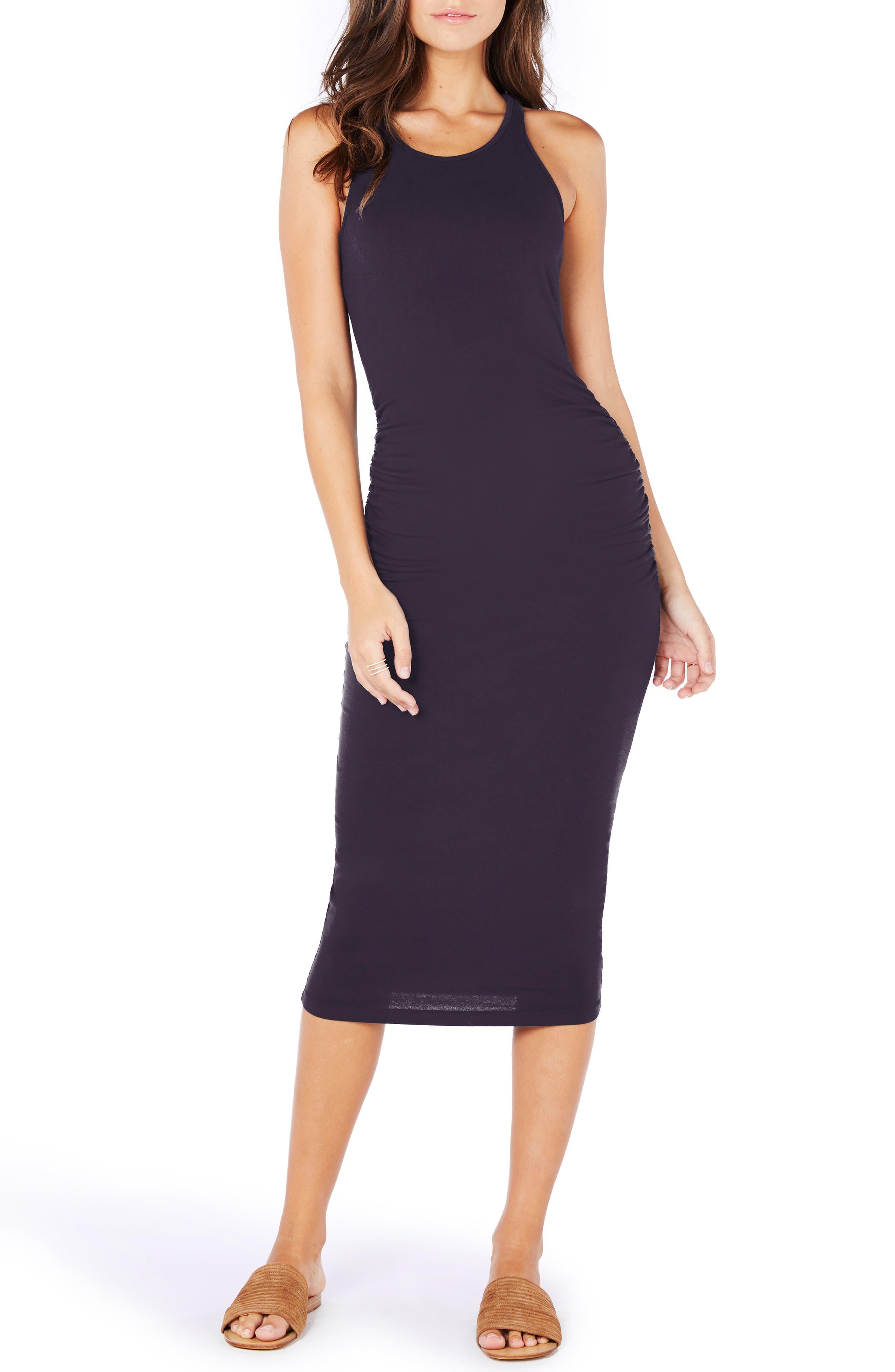 Racerback Midi Dress,                         Main,                         color, GYPSY