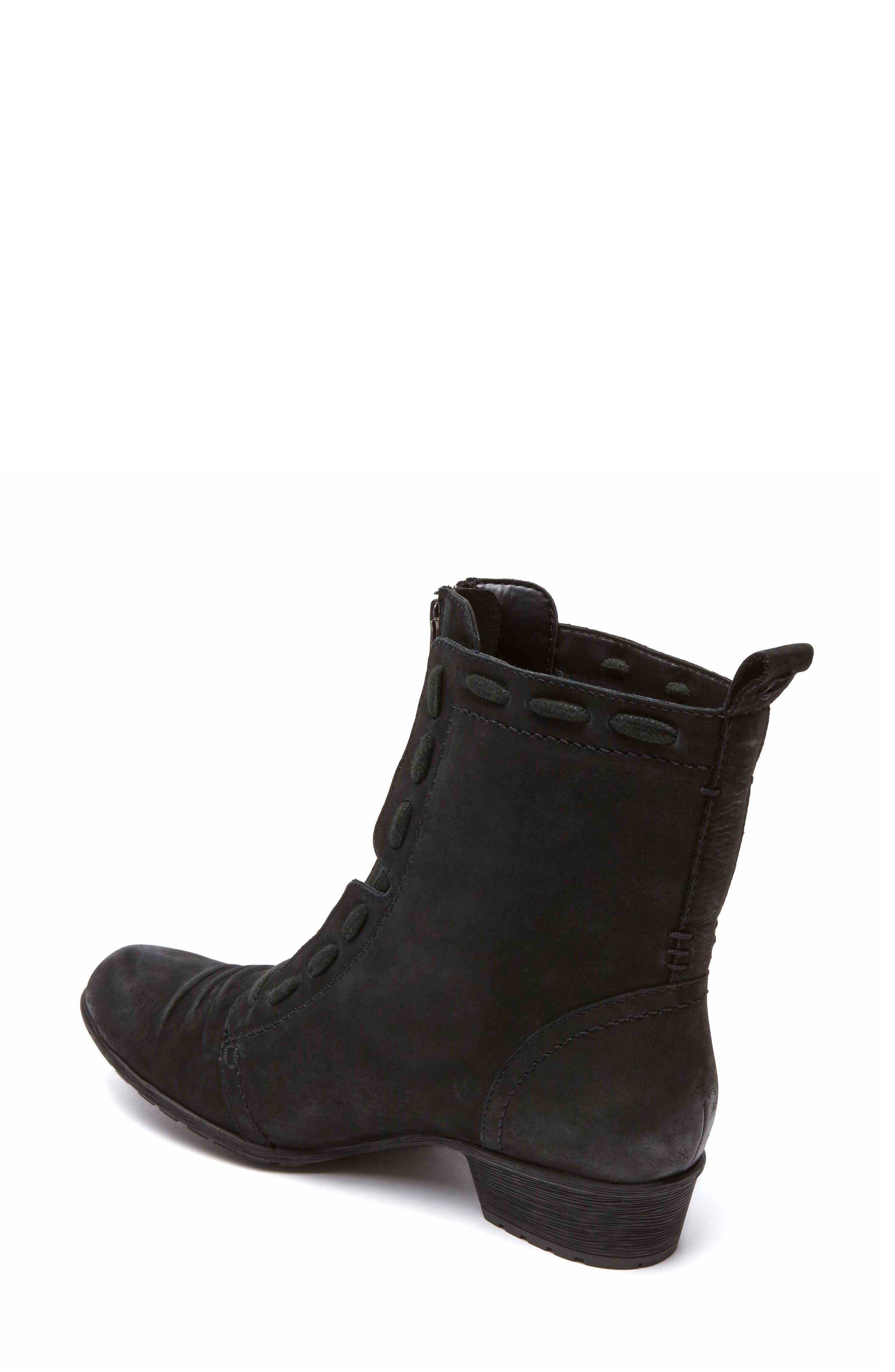 Gratasha Front Zip Boot,                             Alternate thumbnail 2, color,                             BLACK NUBUCK