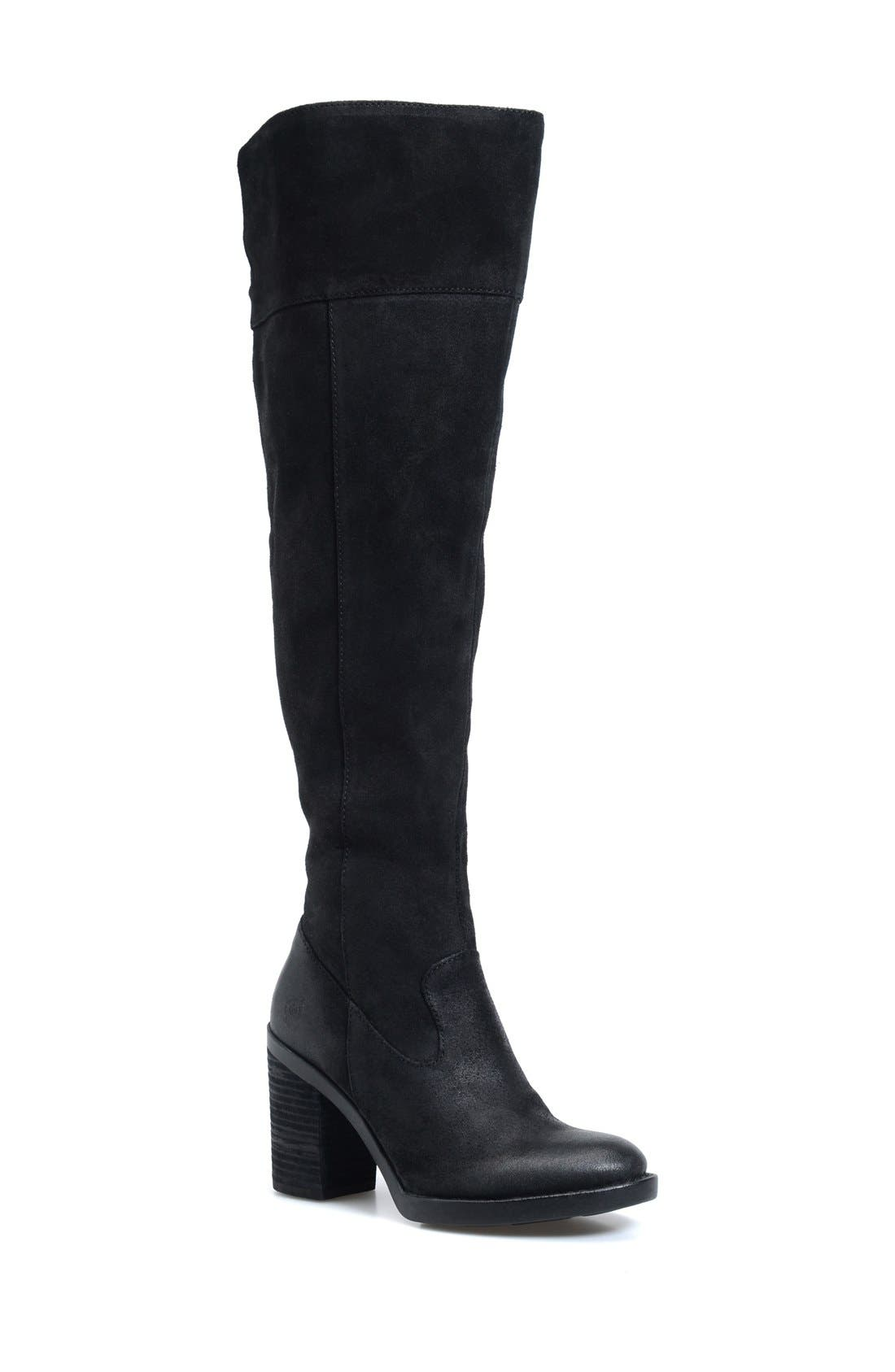 'Kathleen' Over the Knee Boot,                             Main thumbnail 1, color,                             001