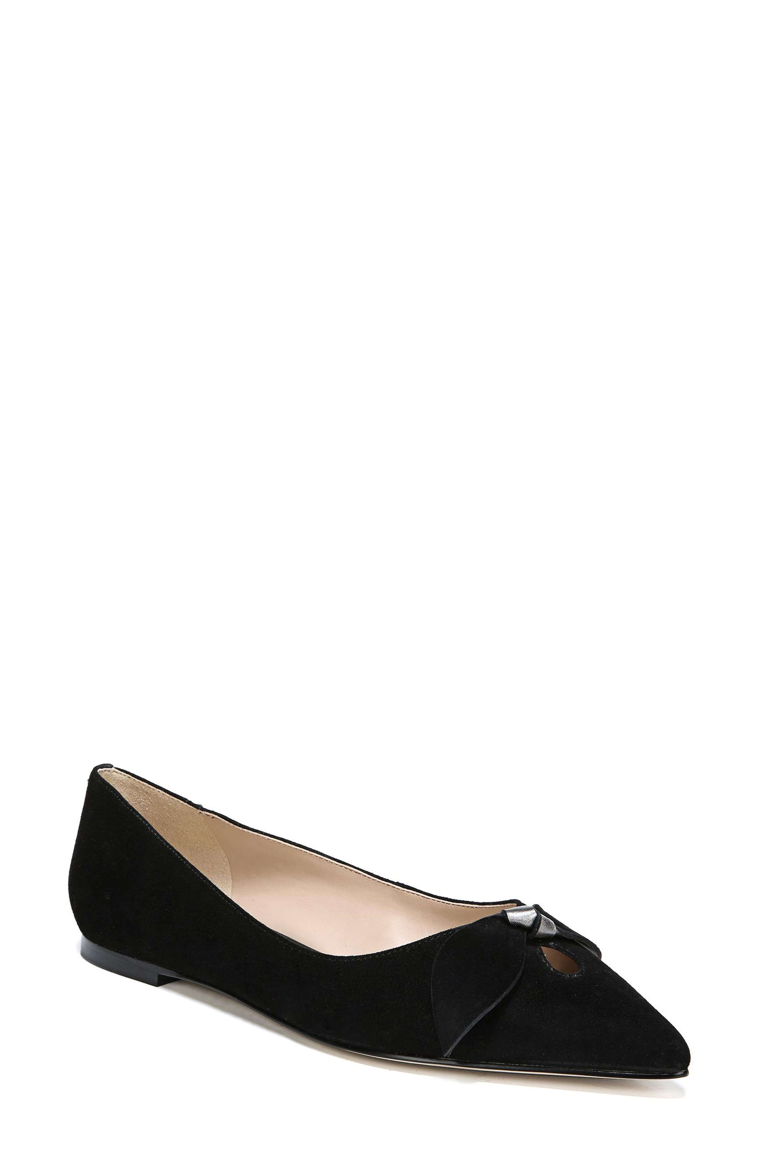 Raz Flat,                         Main,                         color, BLACK SUEDE