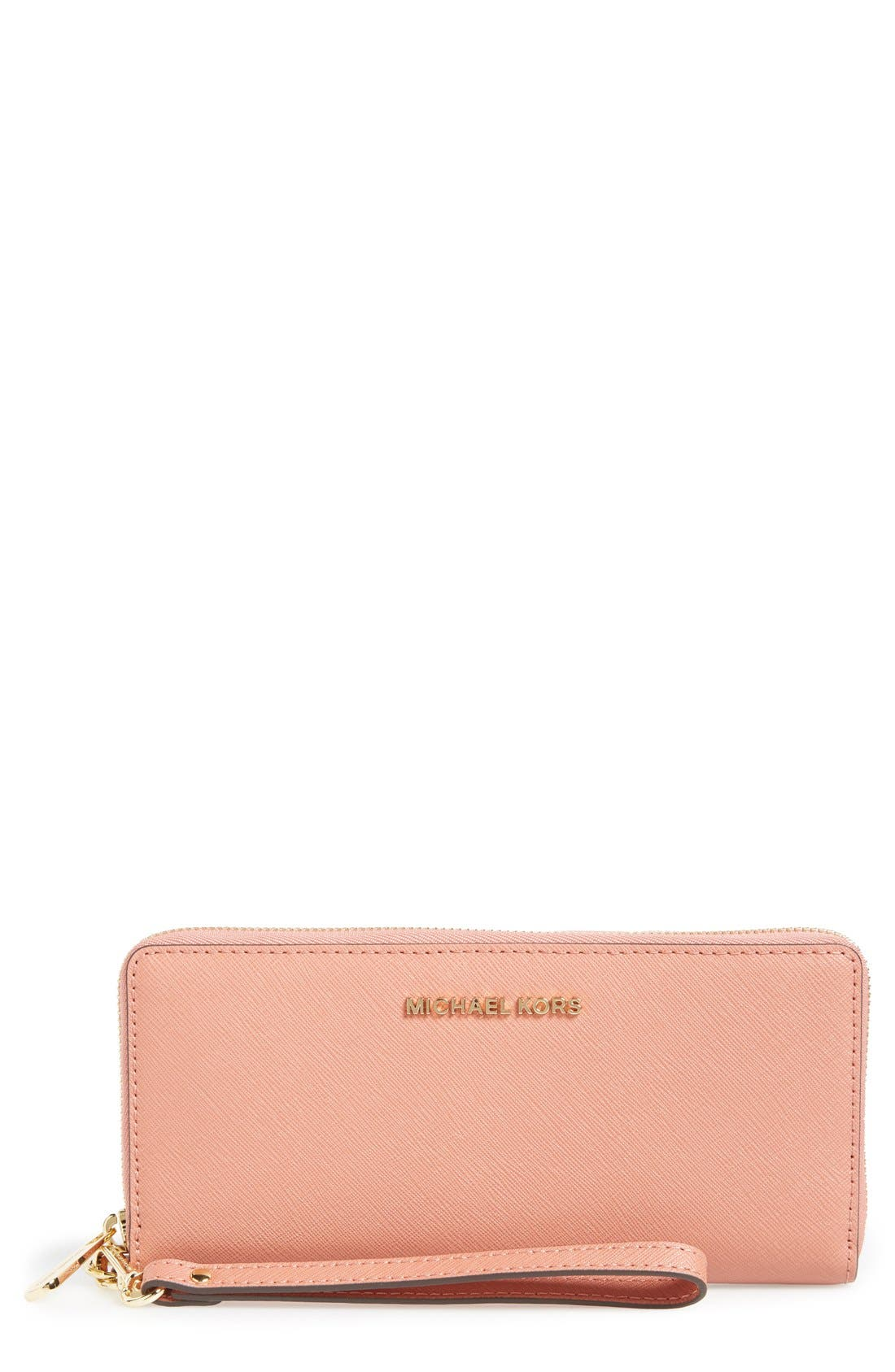 'Jet Set' Leather Travel Wallet,                             Main thumbnail 6, color,