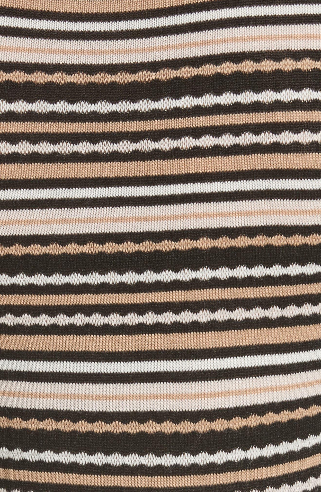 stripe sweater dress,                             Alternate thumbnail 6, color,                             677