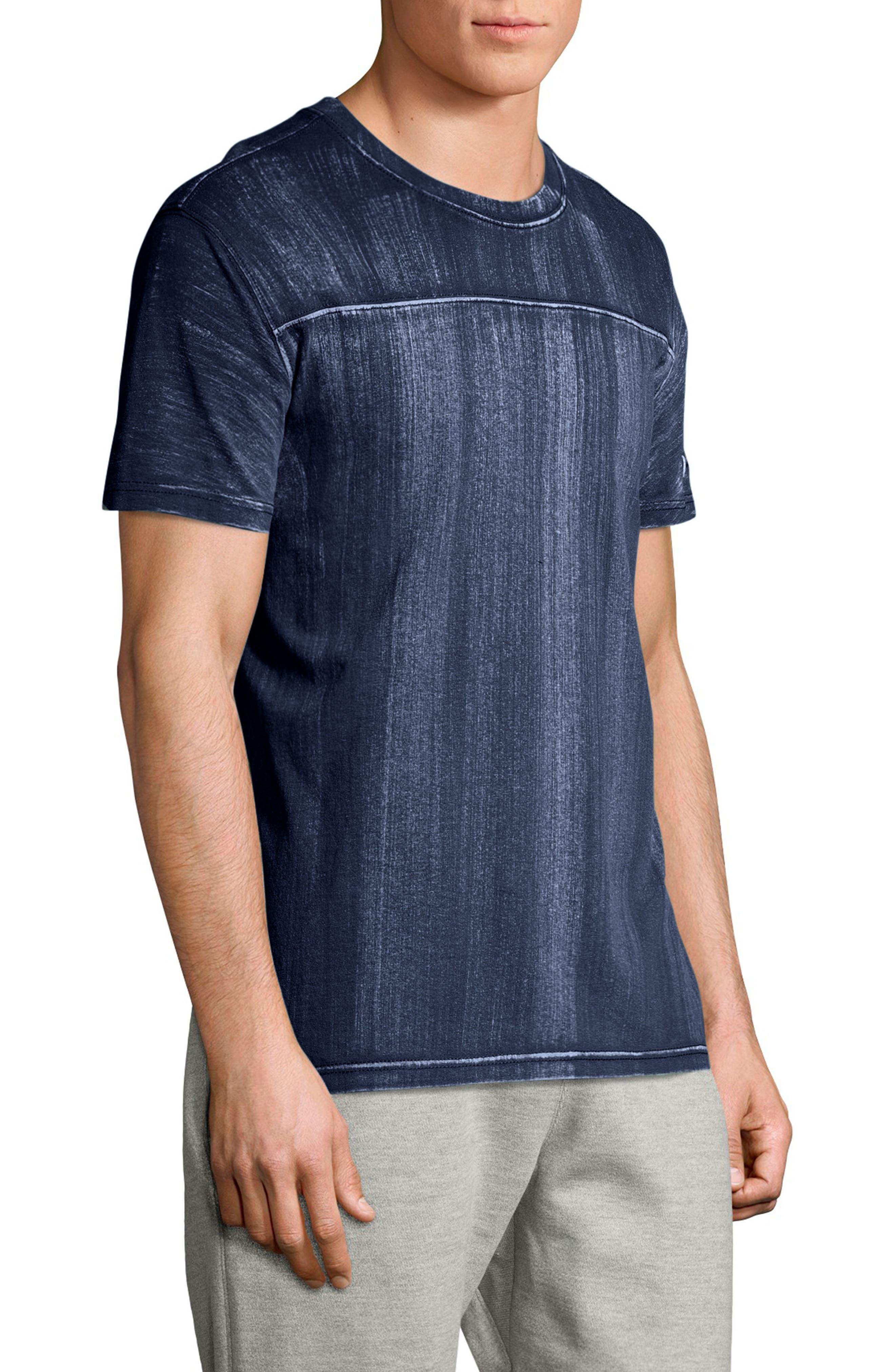 Bleached Wash Crewneck Cotton T-Shirt,                             Alternate thumbnail 8, color,