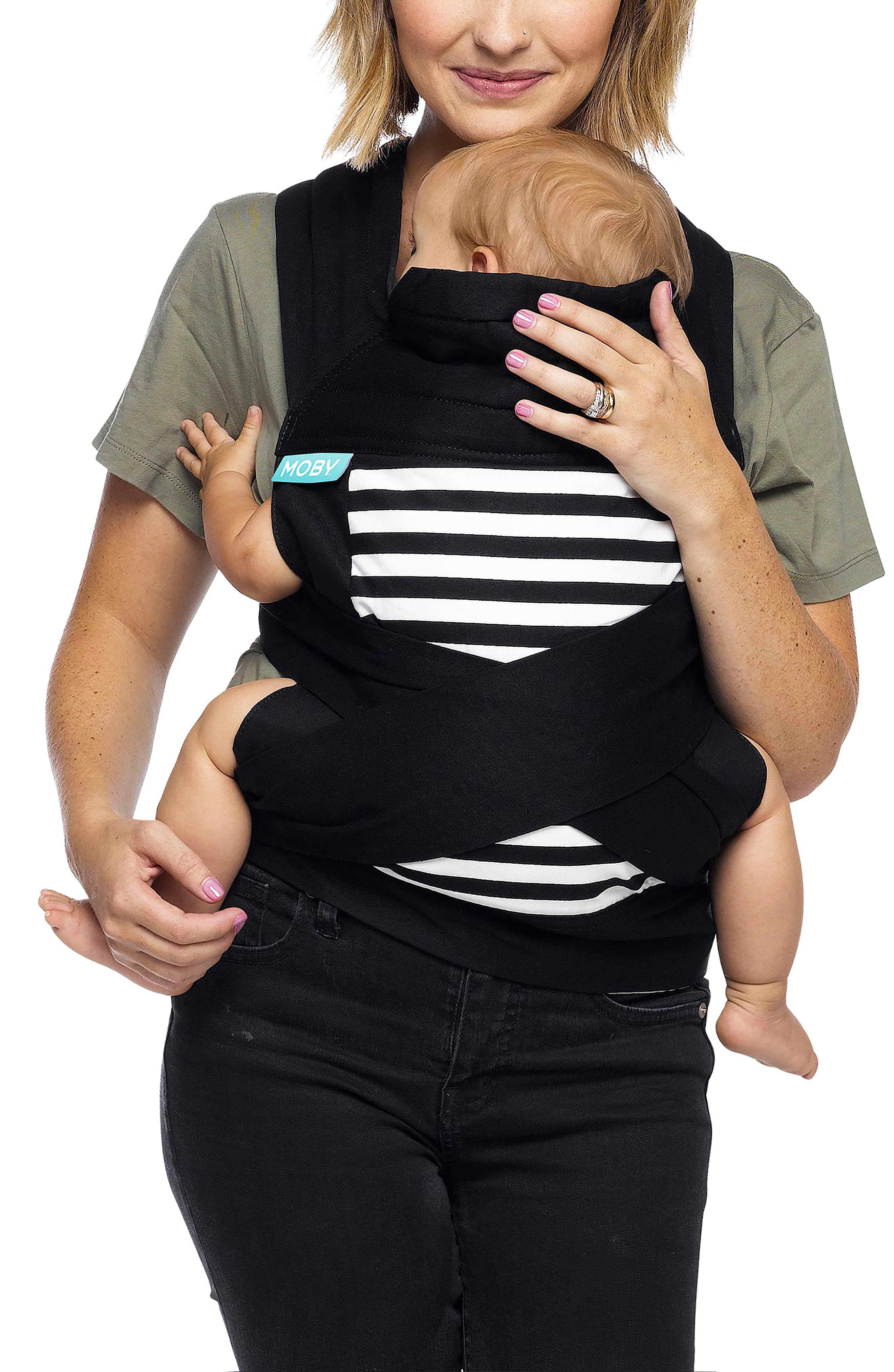 Wrap Double Tie Baby Carrier,                             Main thumbnail 1, color,                             001