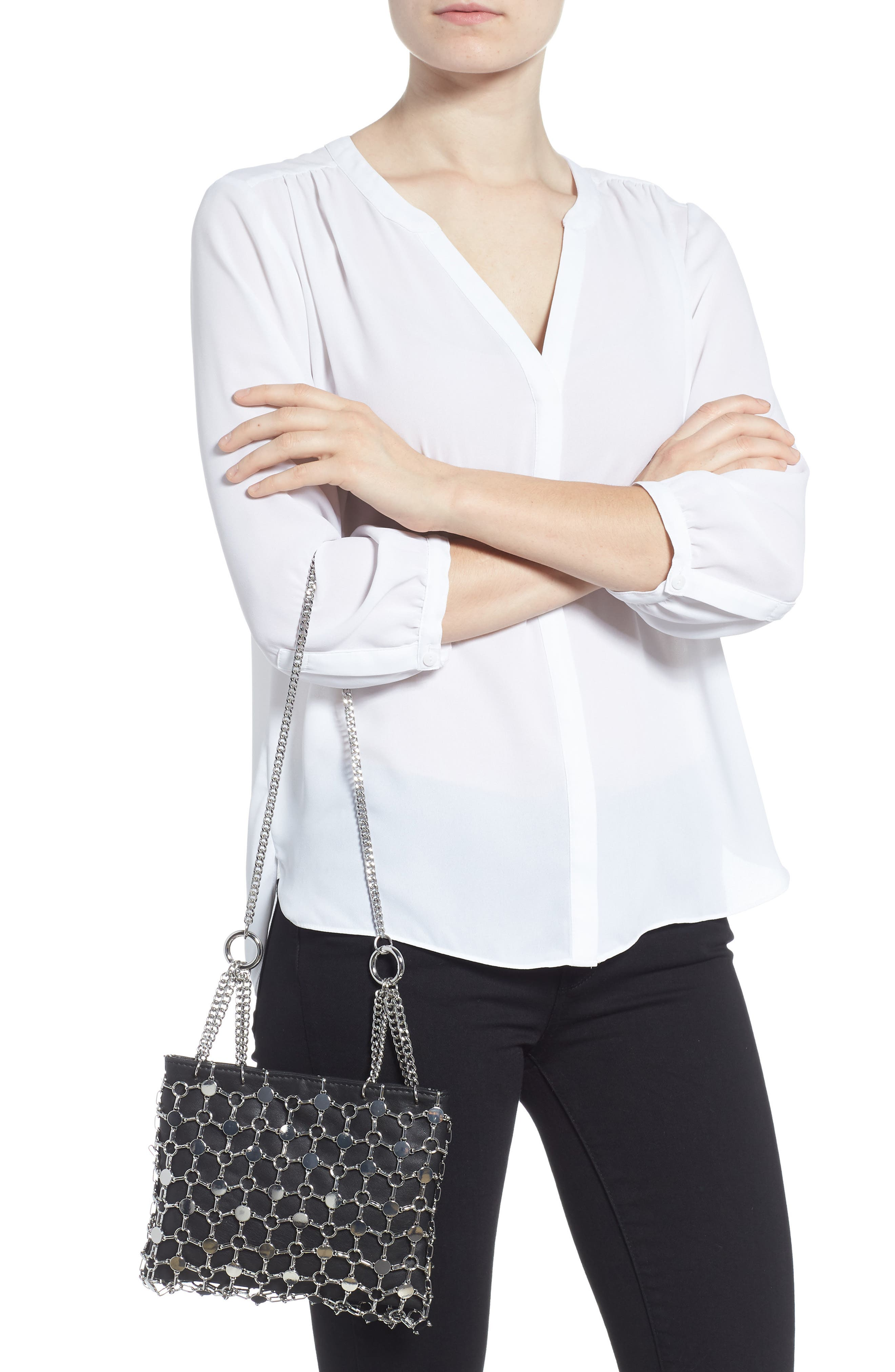 Multi Chain Shoulder Bag,                             Alternate thumbnail 2, color,                             001