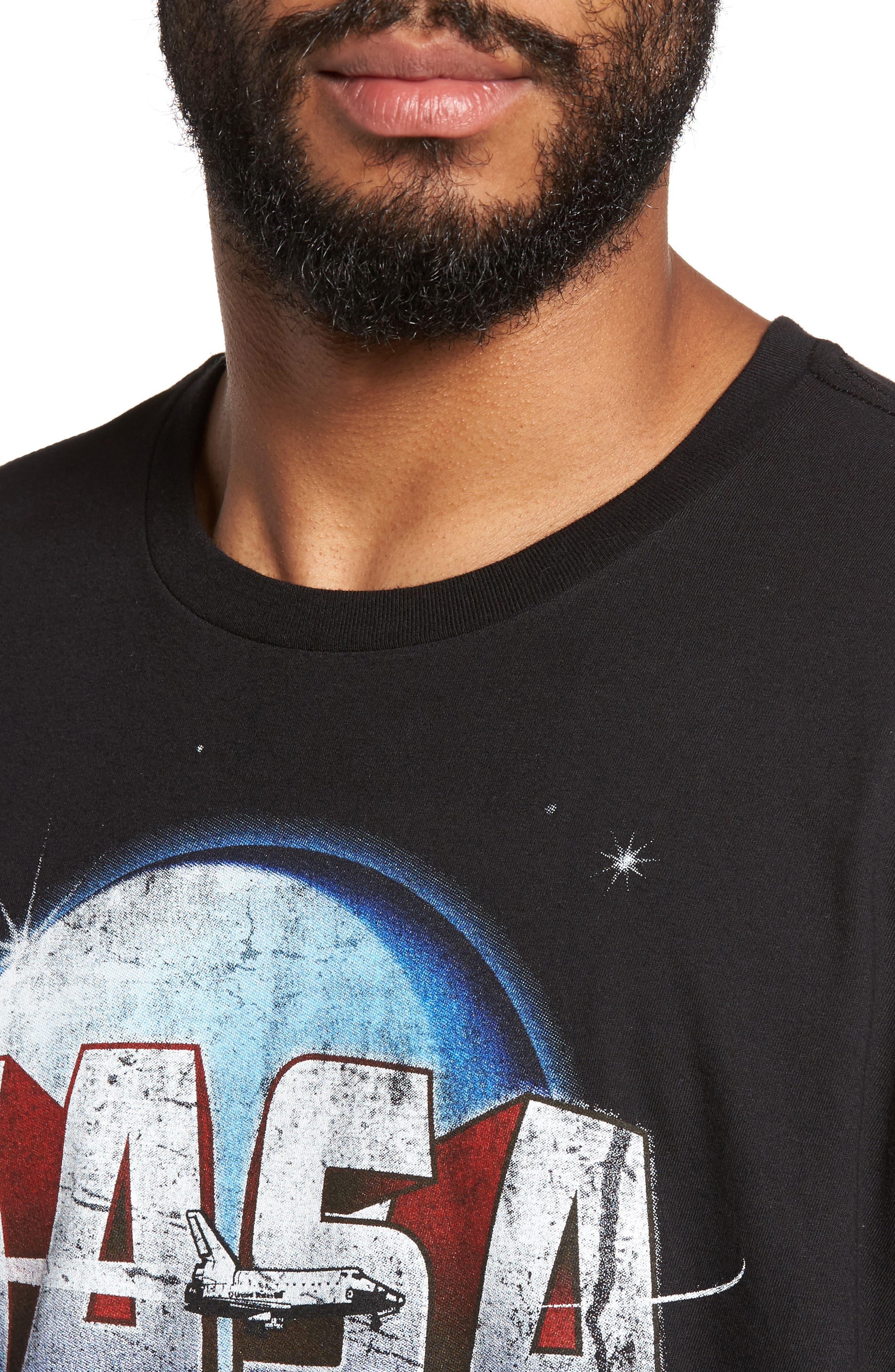 NASA Moon Graphic T-Shirt,                             Alternate thumbnail 4, color,                             001