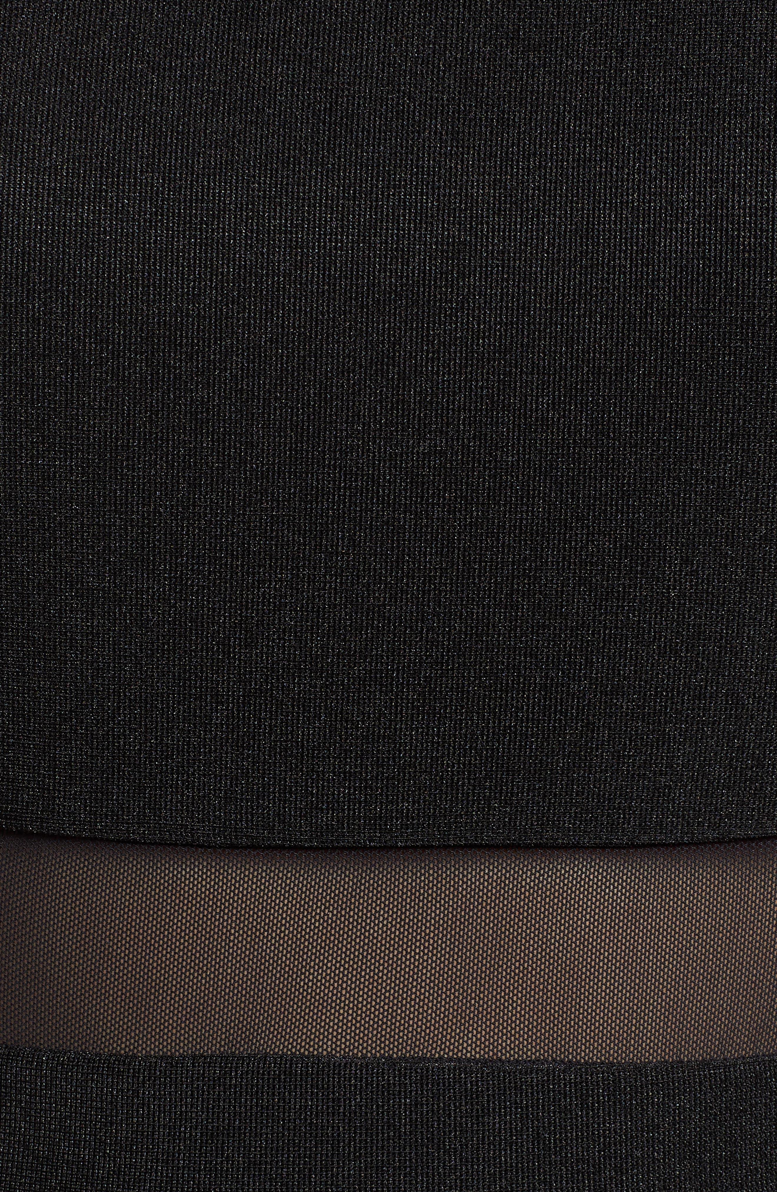 LOVE, NICKIE LEW,                             Love, Nicki Lew Halter Neck Skater Dress,                             Alternate thumbnail 6, color,                             BLACK