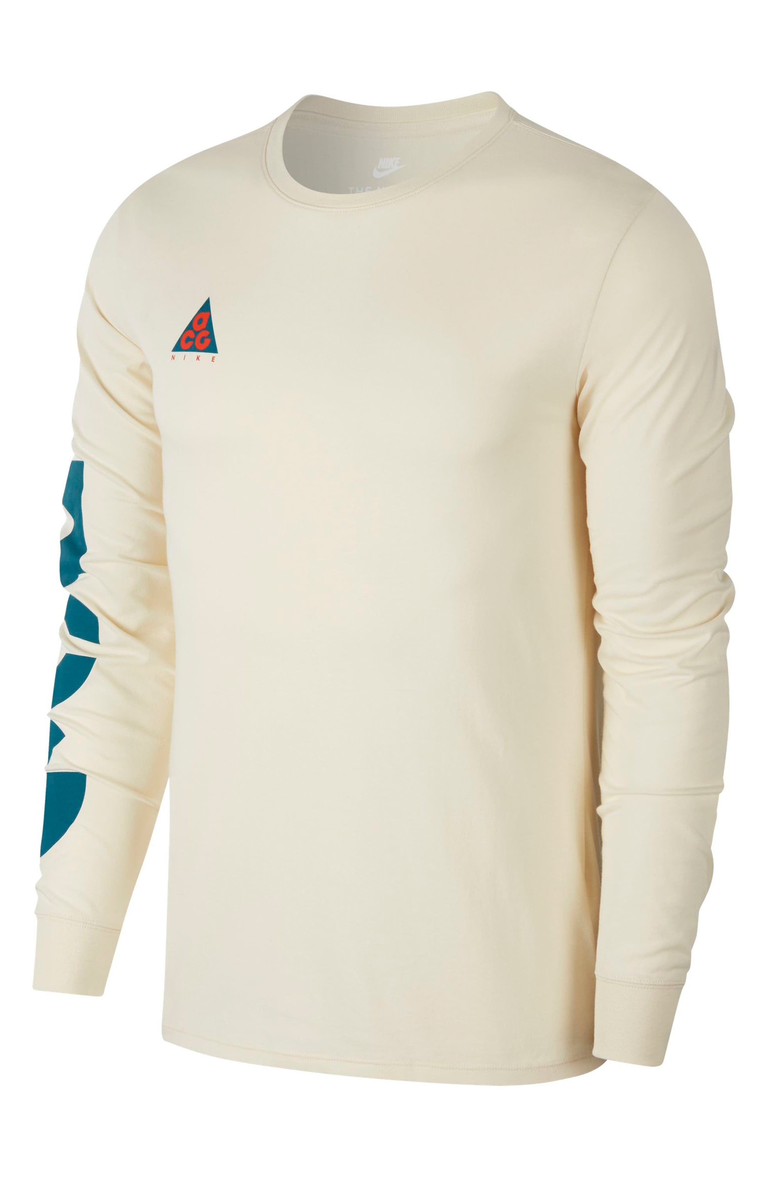 NSW ACG Graphic T-Shirt,                         Main,                         color, LIGHT CREAM/ GEODE TEAL