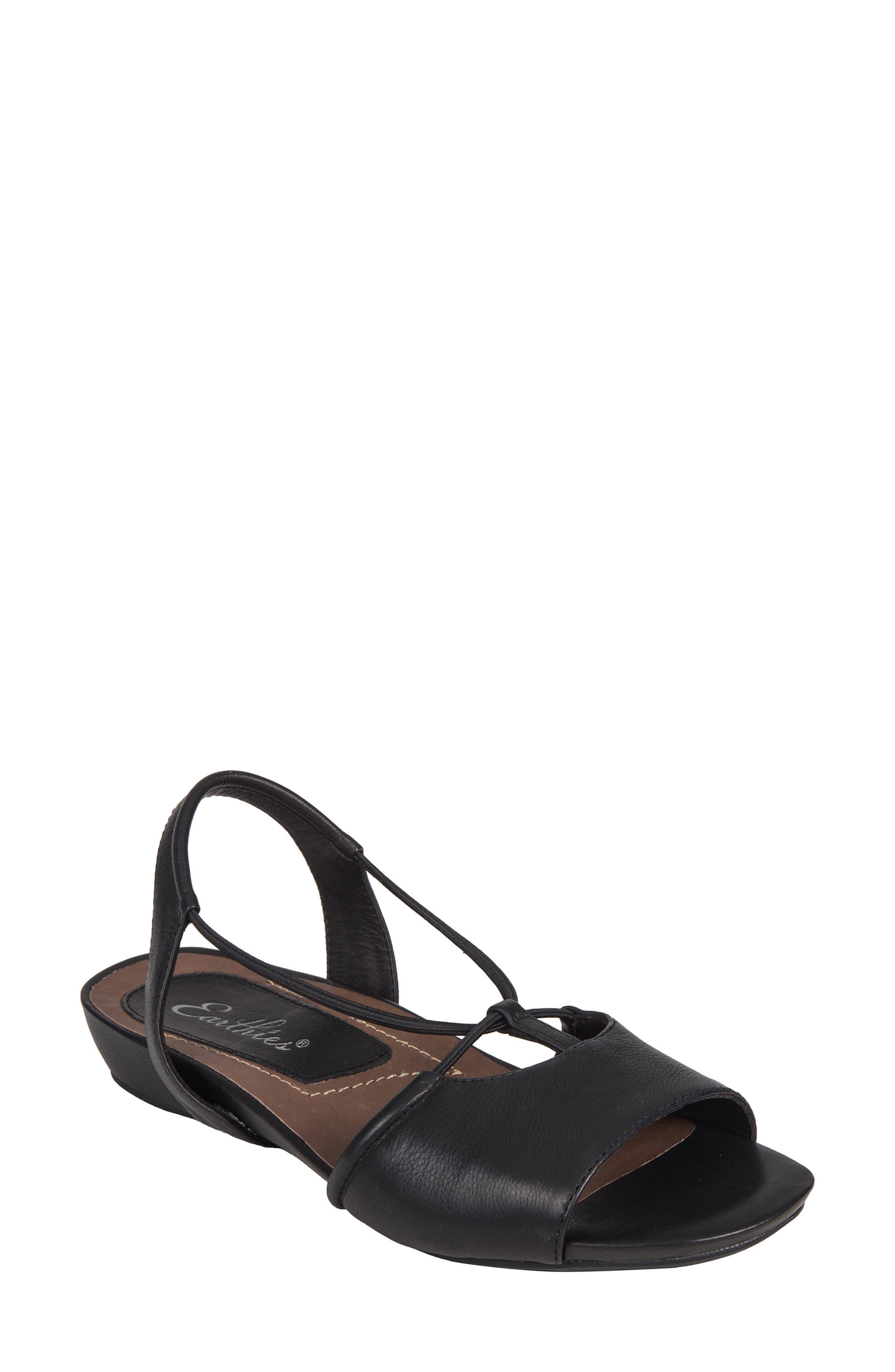 Lacona Sandal,                         Main,                         color, BLACK LEATHER