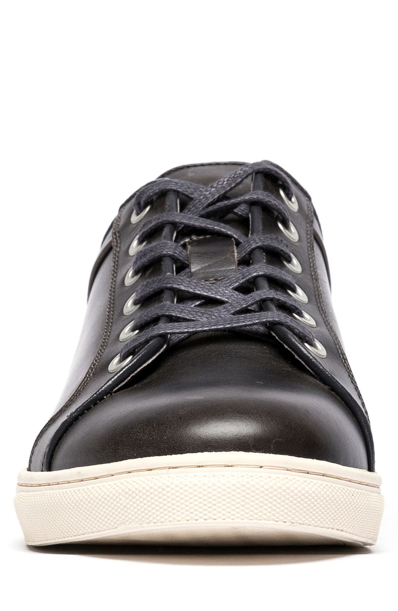 Aria Sneaker,                             Alternate thumbnail 4, color,                             COAL LEATHER