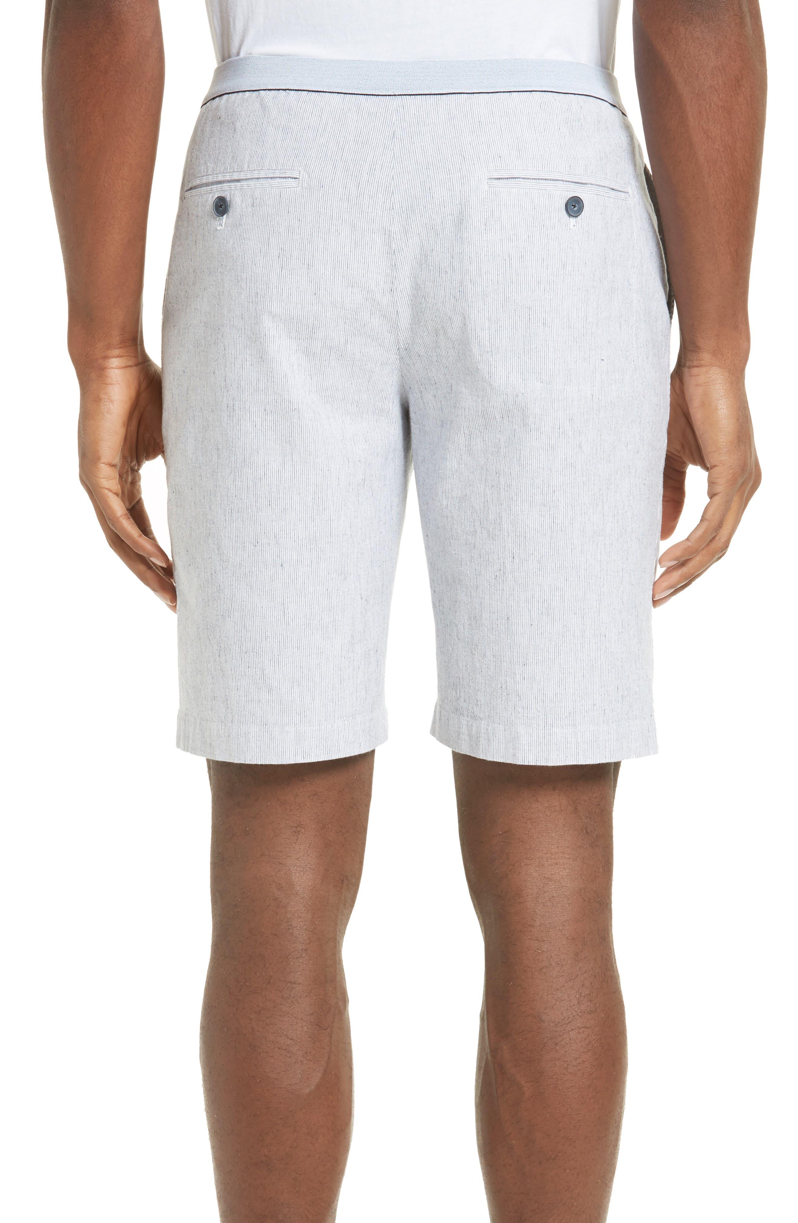 Elastic Waist Seersucker Shorts,                         Main,                         color, 410