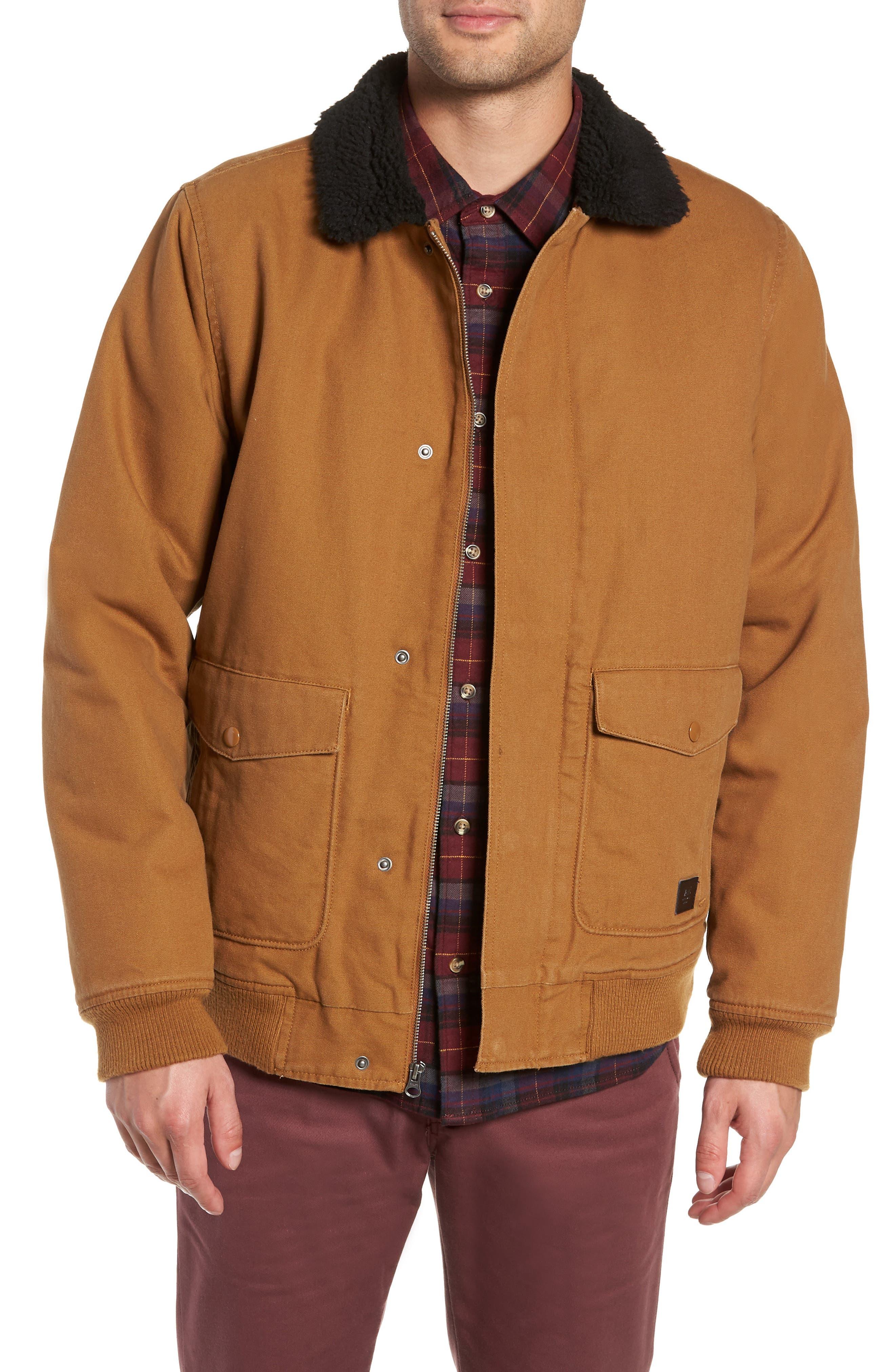 Vans Belden Fleece Collar Jacket, Brown