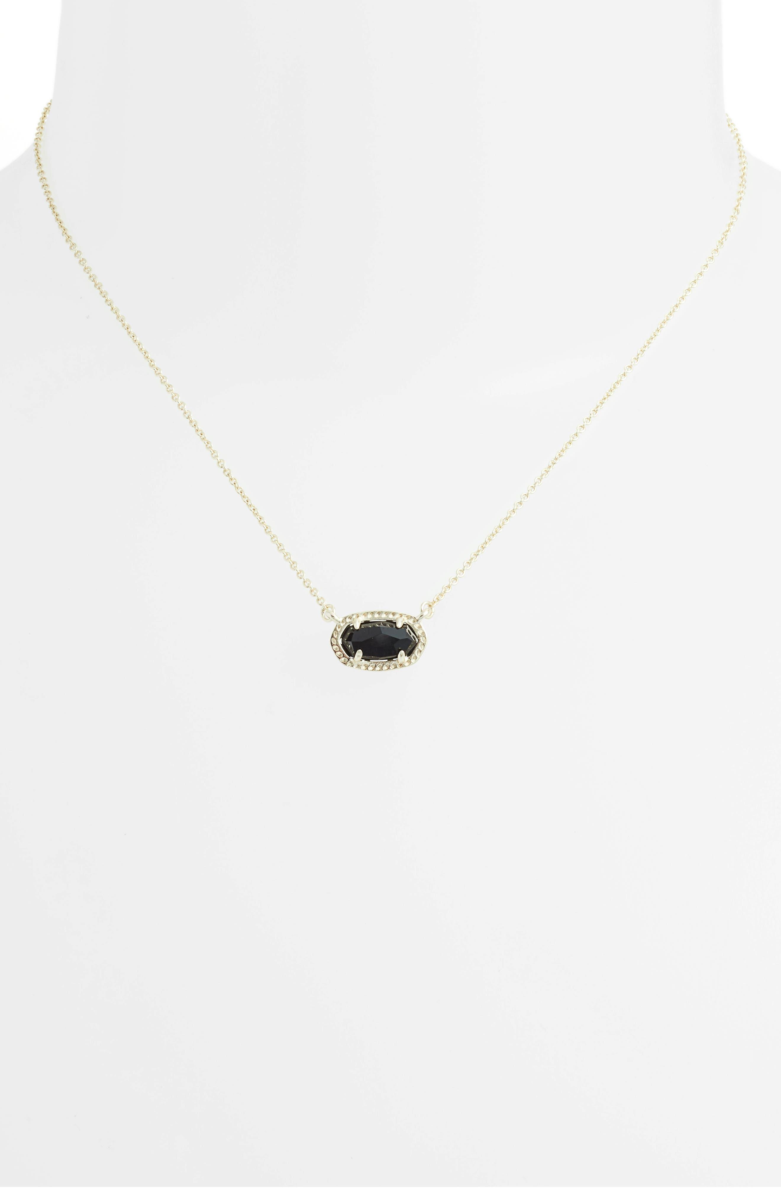 Ember Pendant Necklace,                             Alternate thumbnail 2, color,                             BLACK/ GOLD