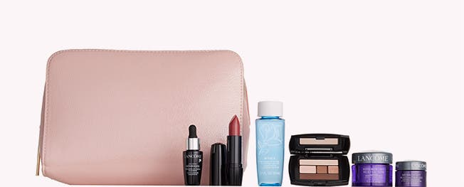 Choose your free gift with $39.50 Lancôme purchase. A $142 value.