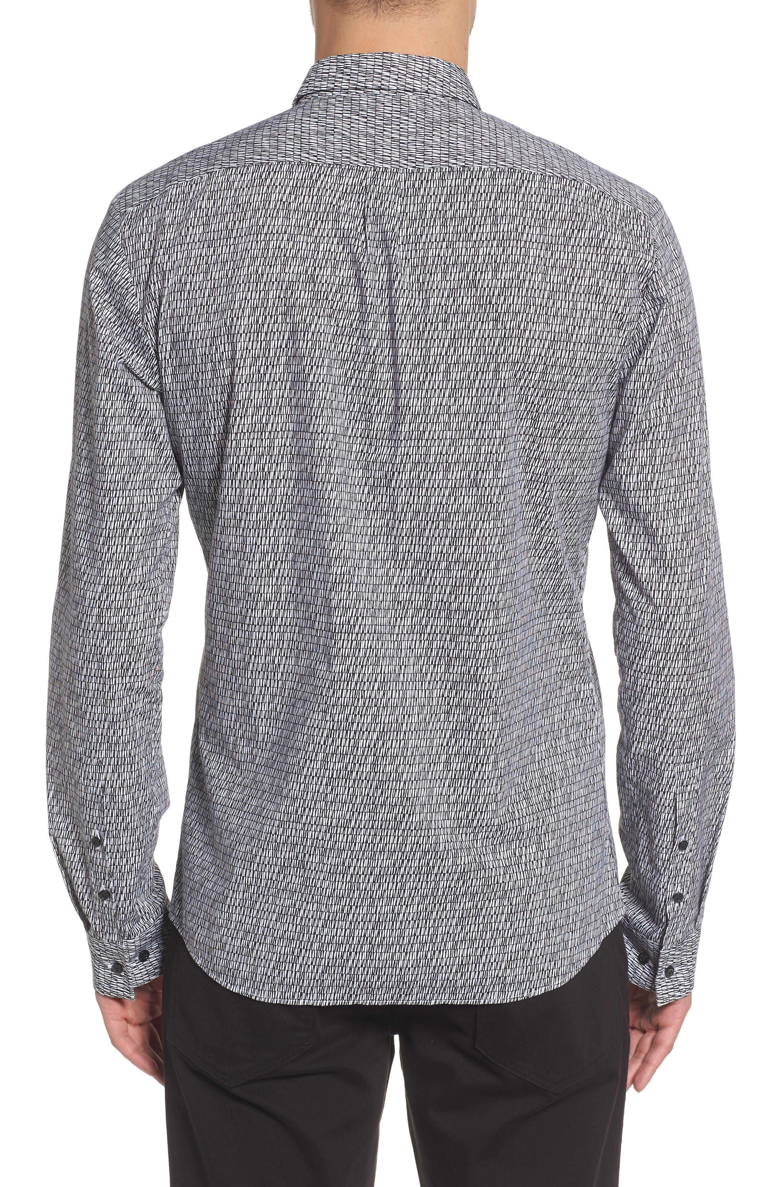 Ero Allover Print Slim Fit Sport Shirt,                             Alternate thumbnail 2, color,                             001