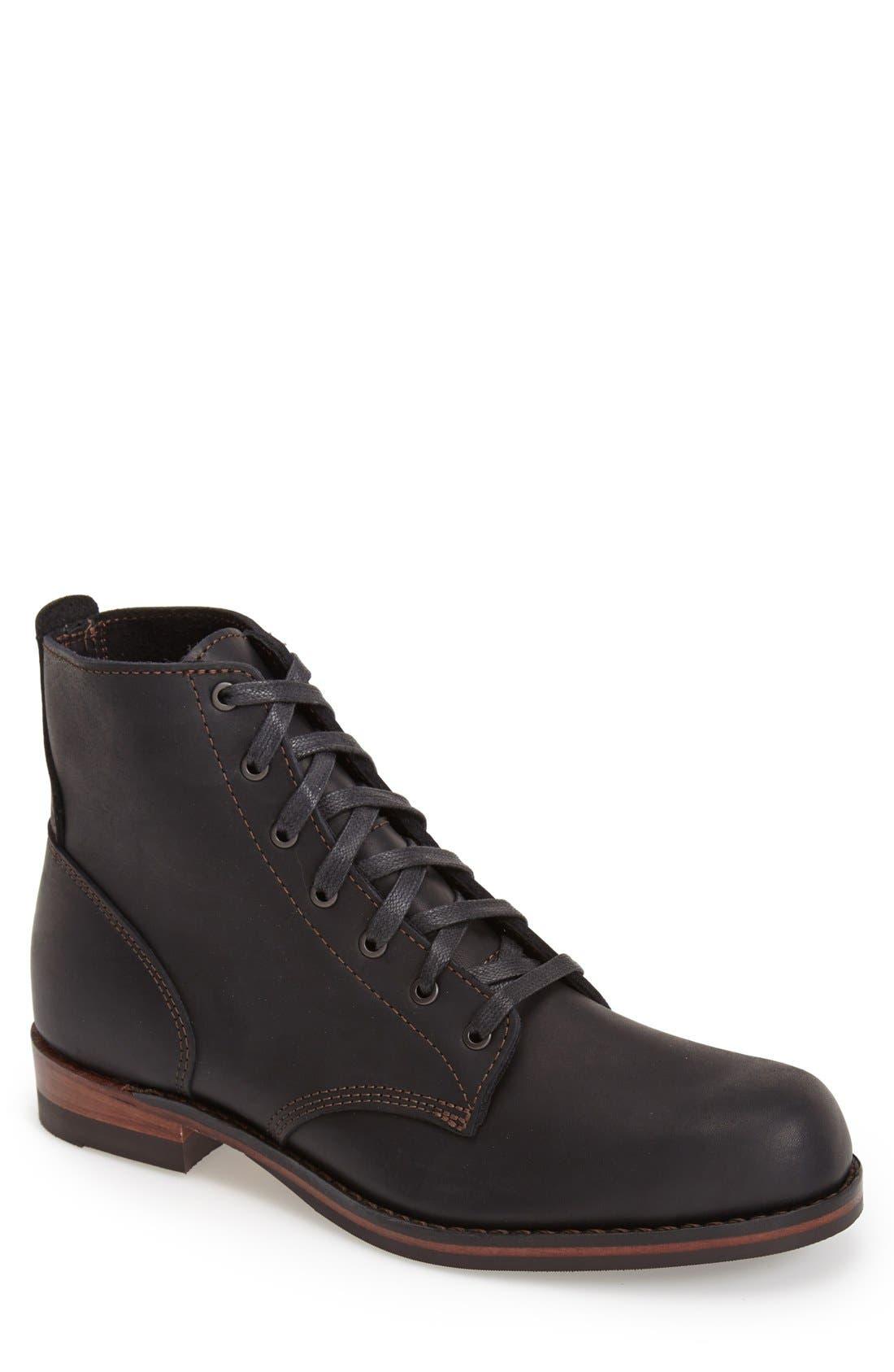 'Williams' Plain Toe Boot, Main, color, 001