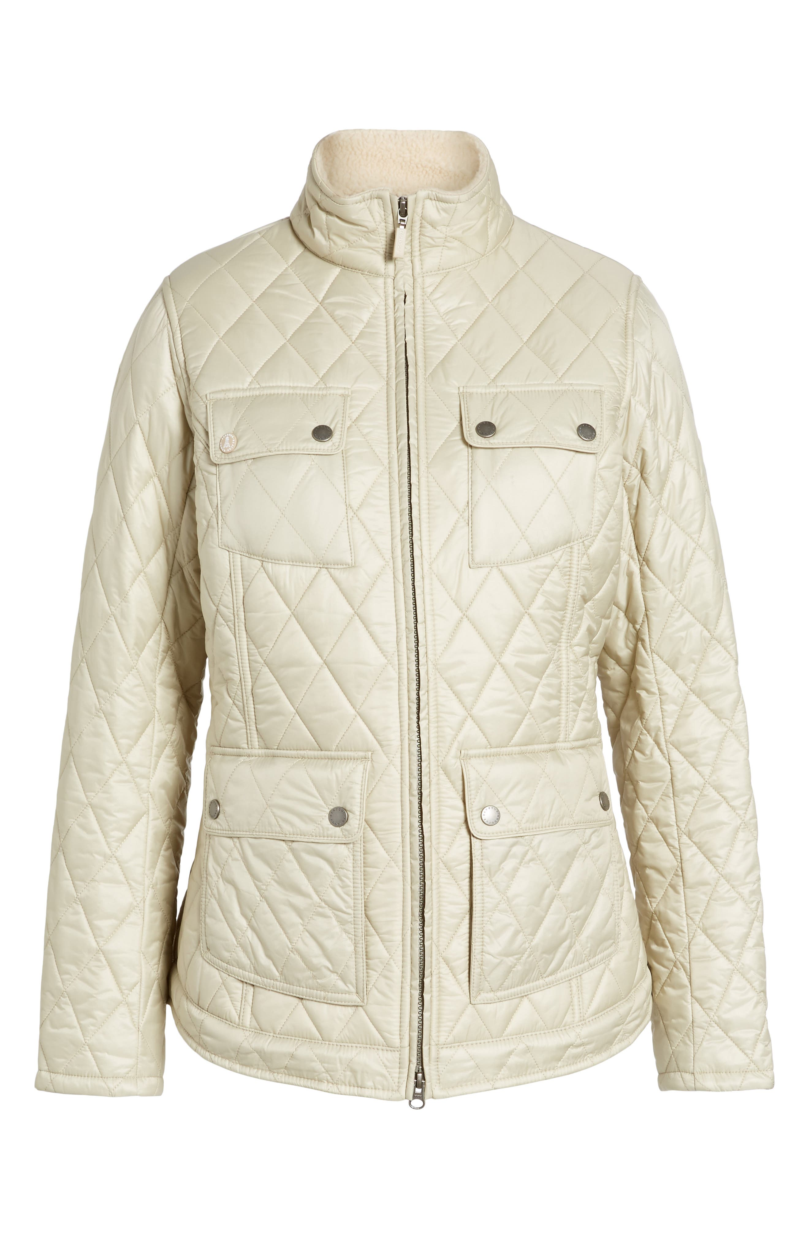 Filey Water Resistant Quilted Jacket,                             Alternate thumbnail 5, color,                             070