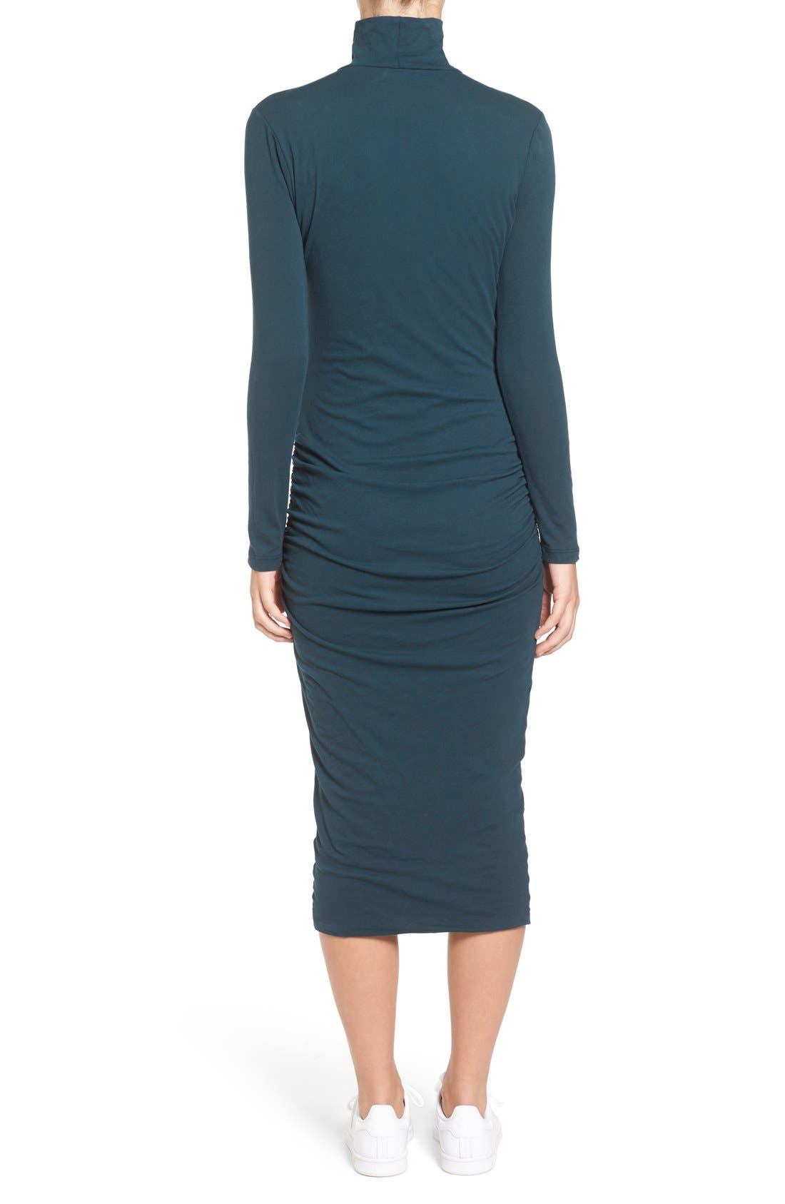 Turtleneck Midi Dress,                             Alternate thumbnail 10, color,