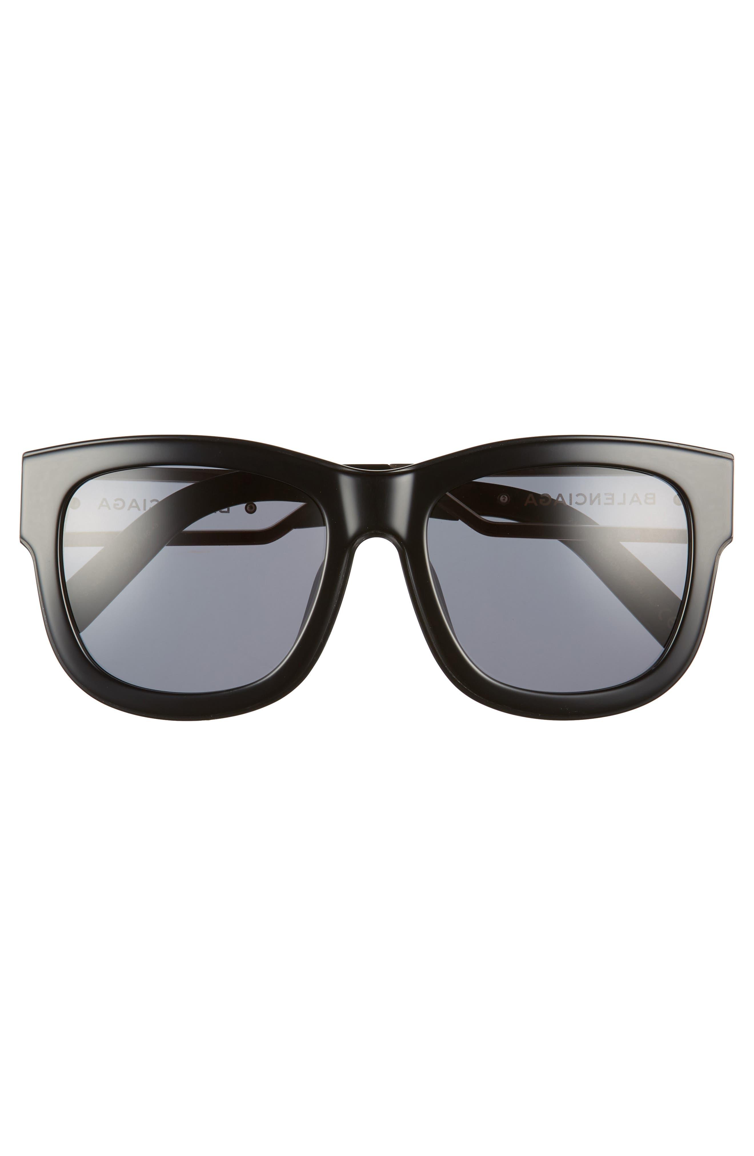 BALENCIAGA,                             56mm Cat Eye Sunglasses,                             Alternate thumbnail 3, color,                             018
