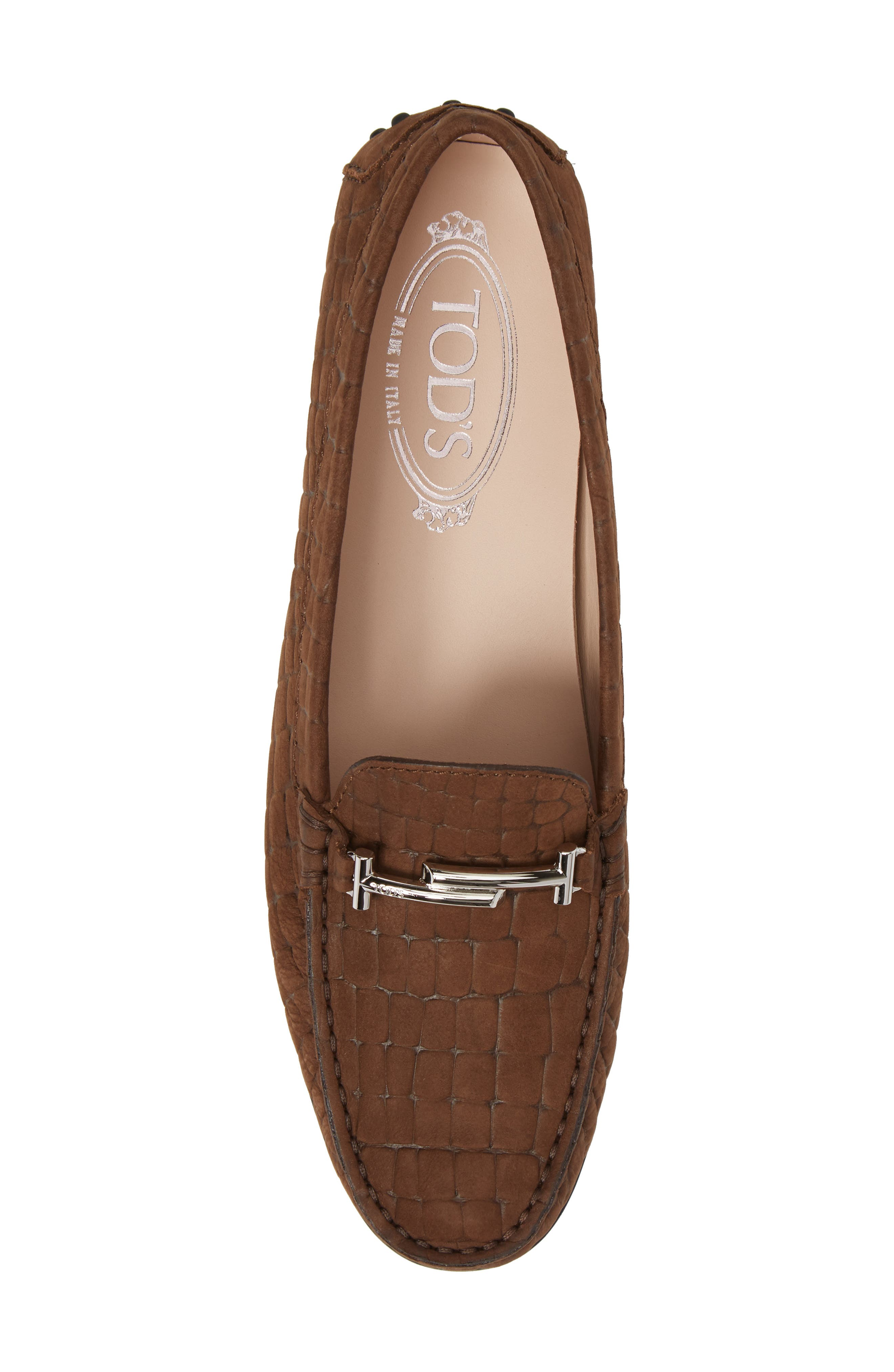Tods Croc Embossed Double T Loafer,                             Alternate thumbnail 5, color,                             249