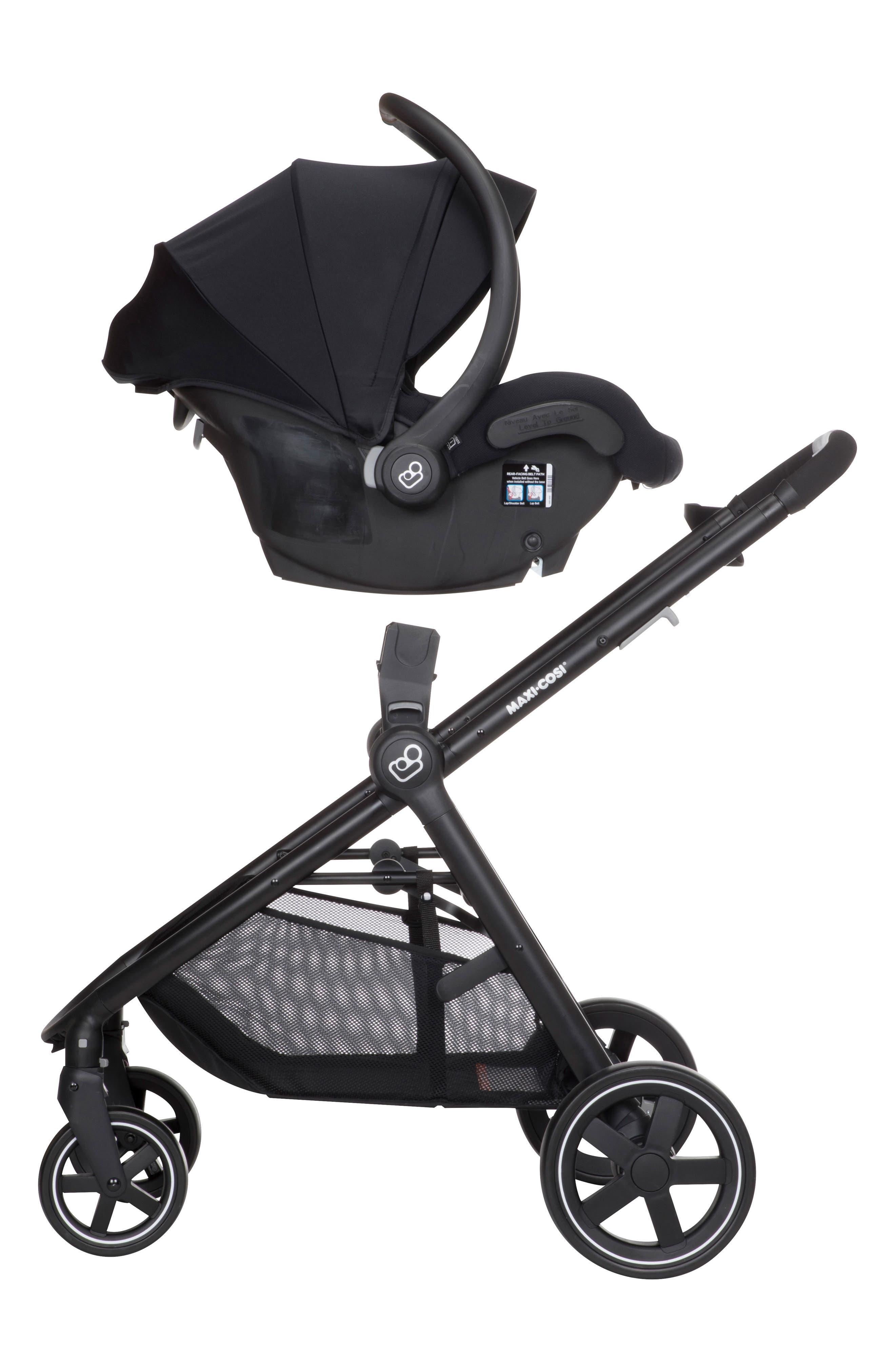 5-1 Mico 30 Infant Car Seat & Zelia Stroller Modular Travel System,                             Alternate thumbnail 2, color,                             NIGHT BLACK