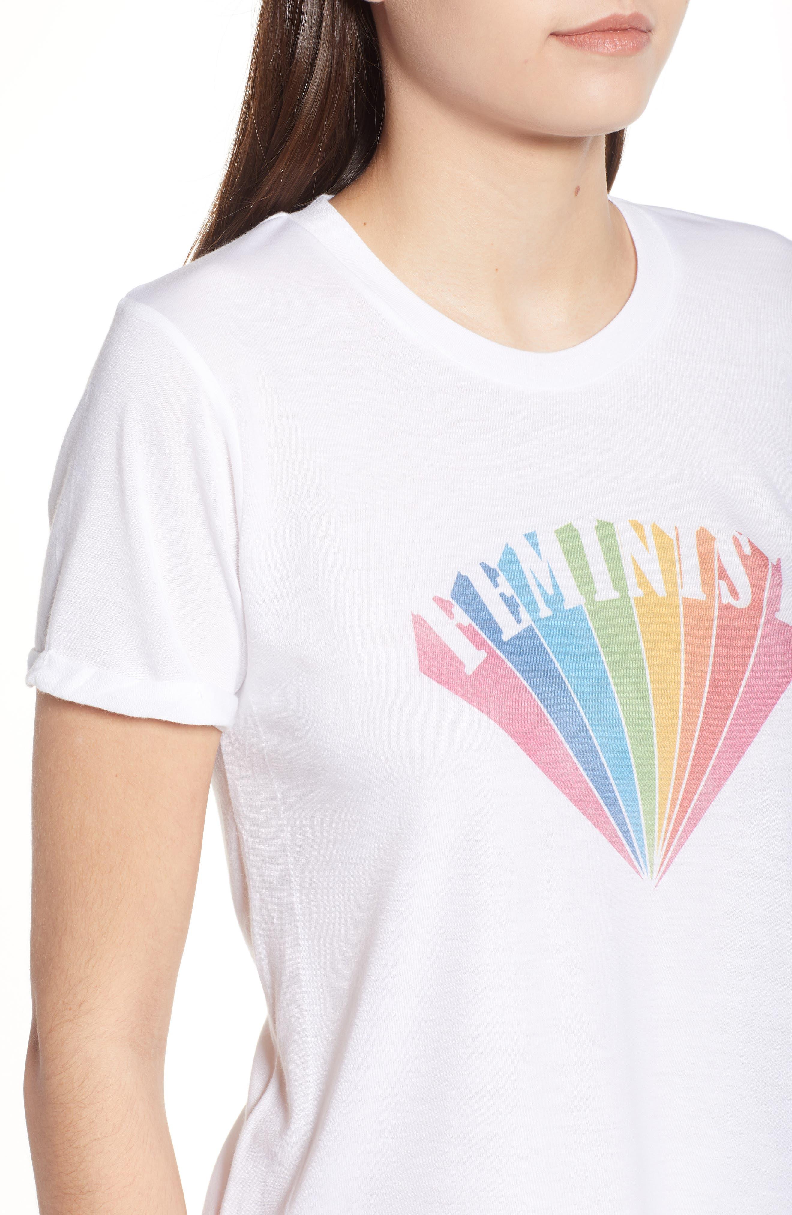 Feminist Graphic Tee,                             Alternate thumbnail 4, color,                             100