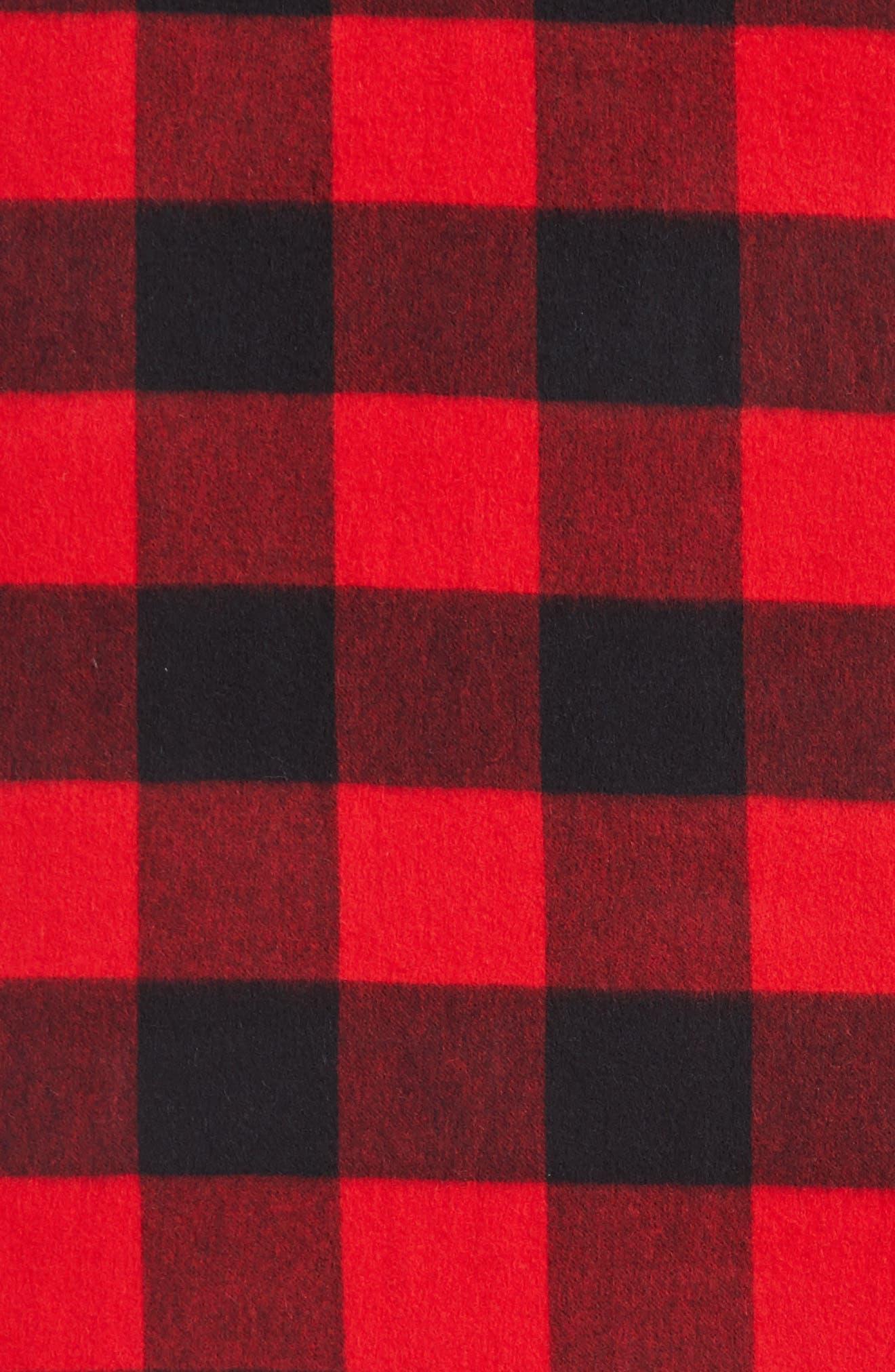 mega check wool scarf,                             Alternate thumbnail 8, color,
