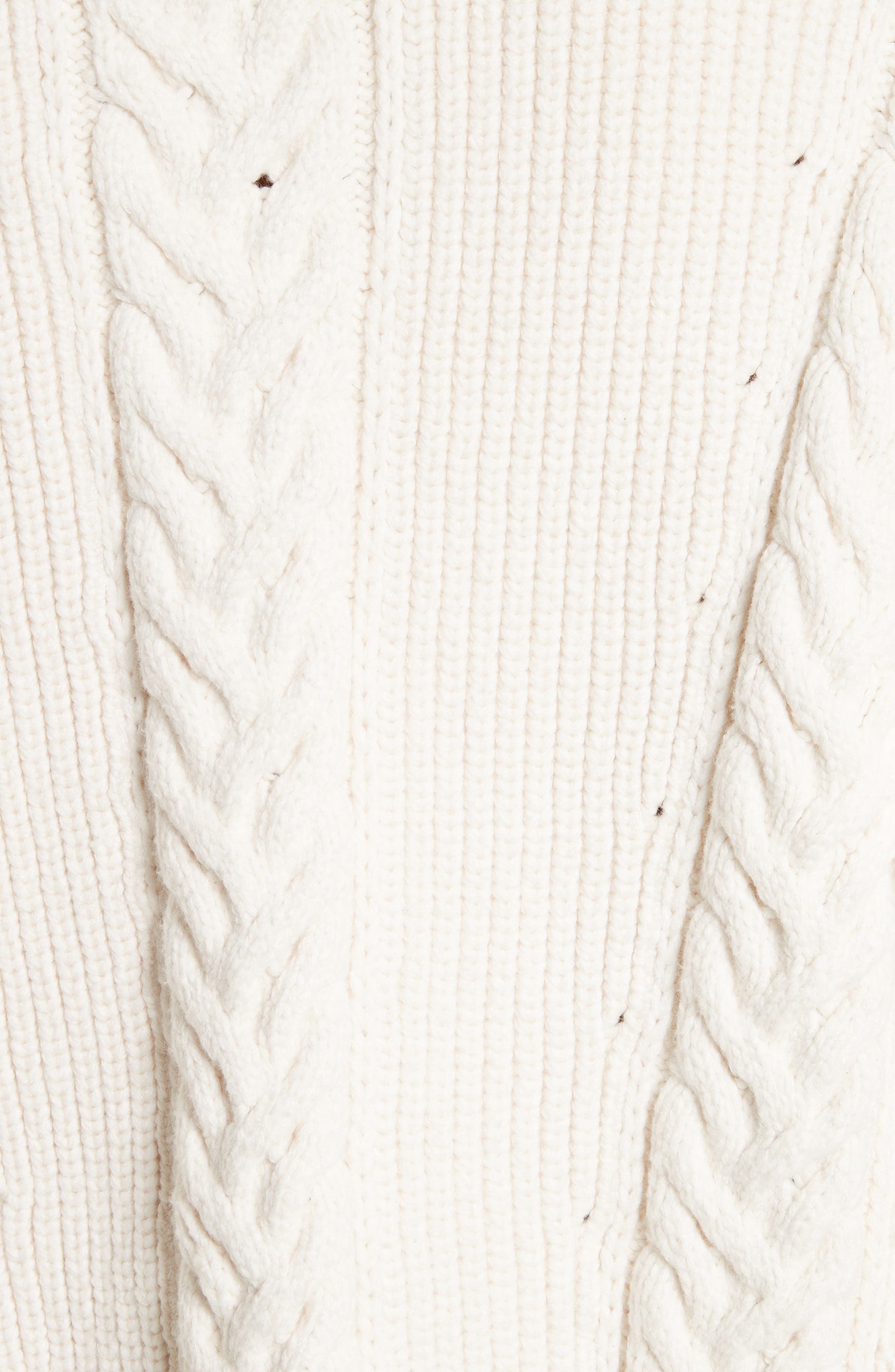 Borbore Fringed Cable Knit Sweater,                             Alternate thumbnail 5, color,                             103