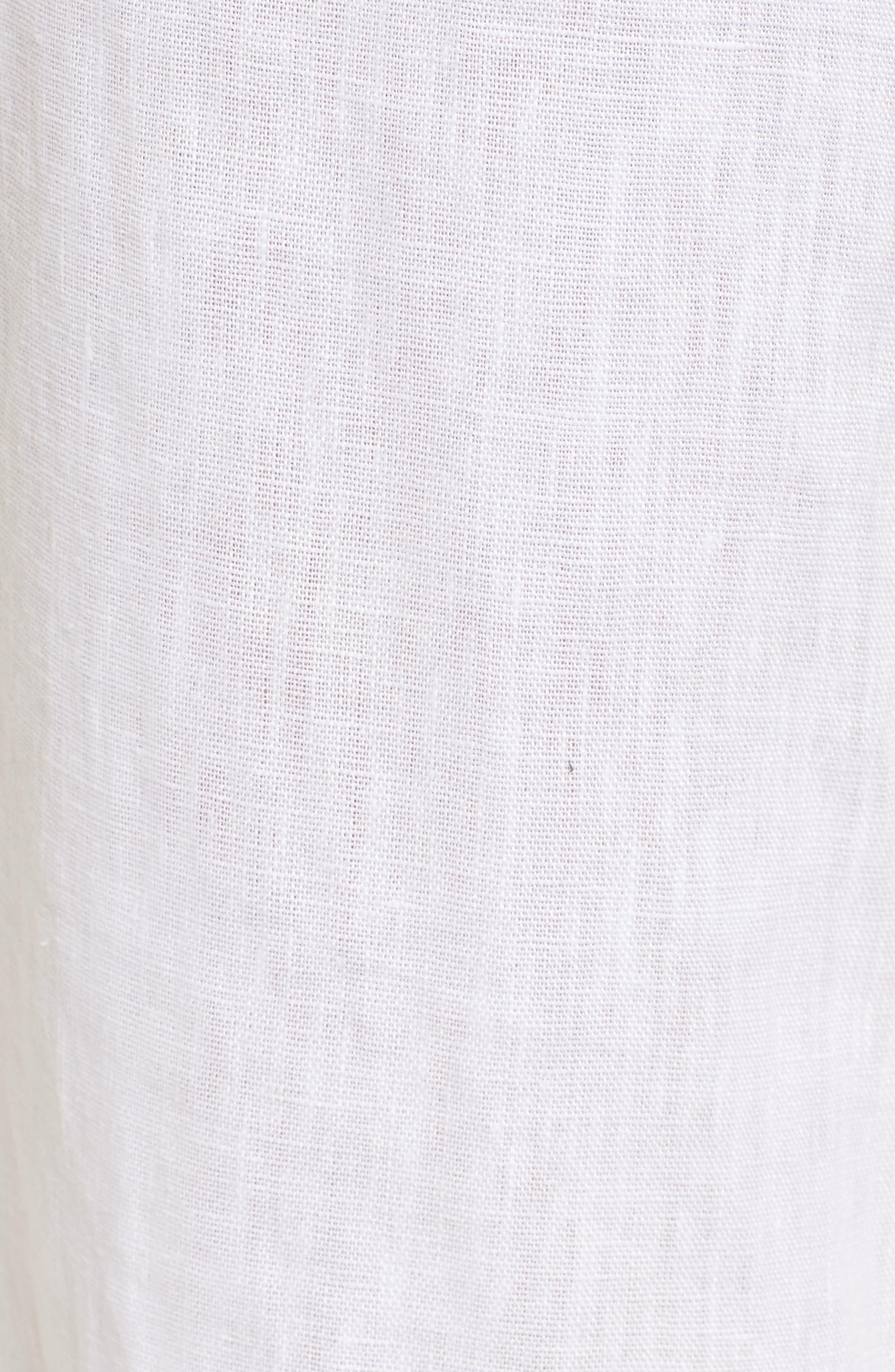 Como Crop Wide Leg Linen Pants,                             Alternate thumbnail 5, color,                             100
