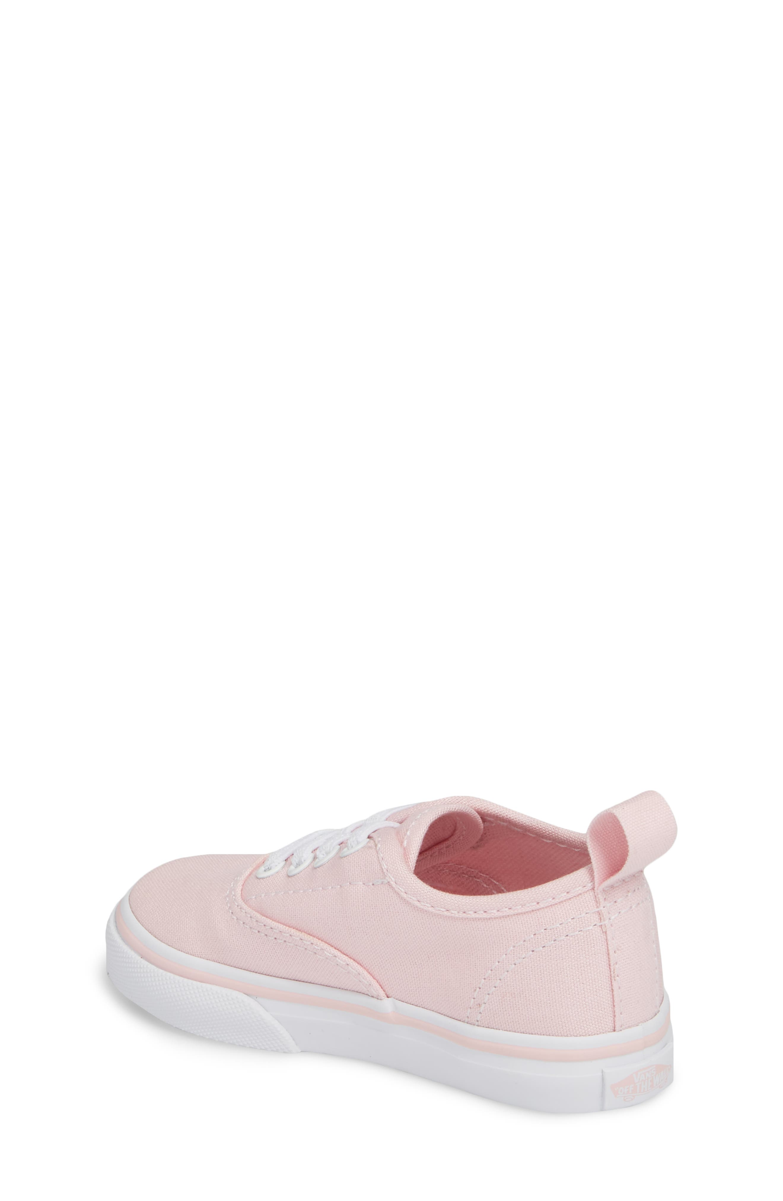 Authentic Elastic Lace Sneaker,                             Alternate thumbnail 2, color,                             CHALK PINK/ TRUE WHITE